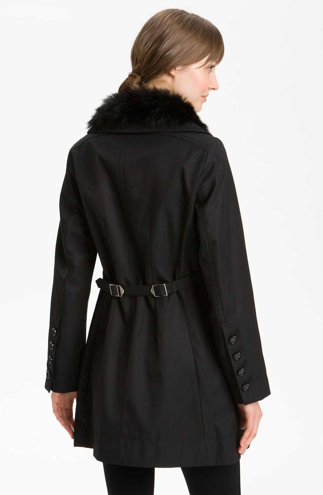 Alternate Image 2  - Hilary Radley Detachable Fur Collar Raincoat