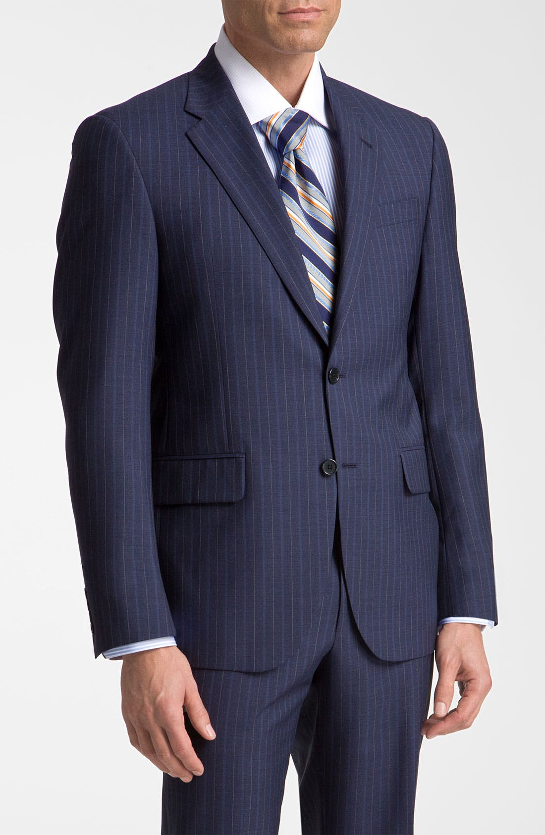 Main Image - Robert Talbott Navy Pinstripe Wool Suit