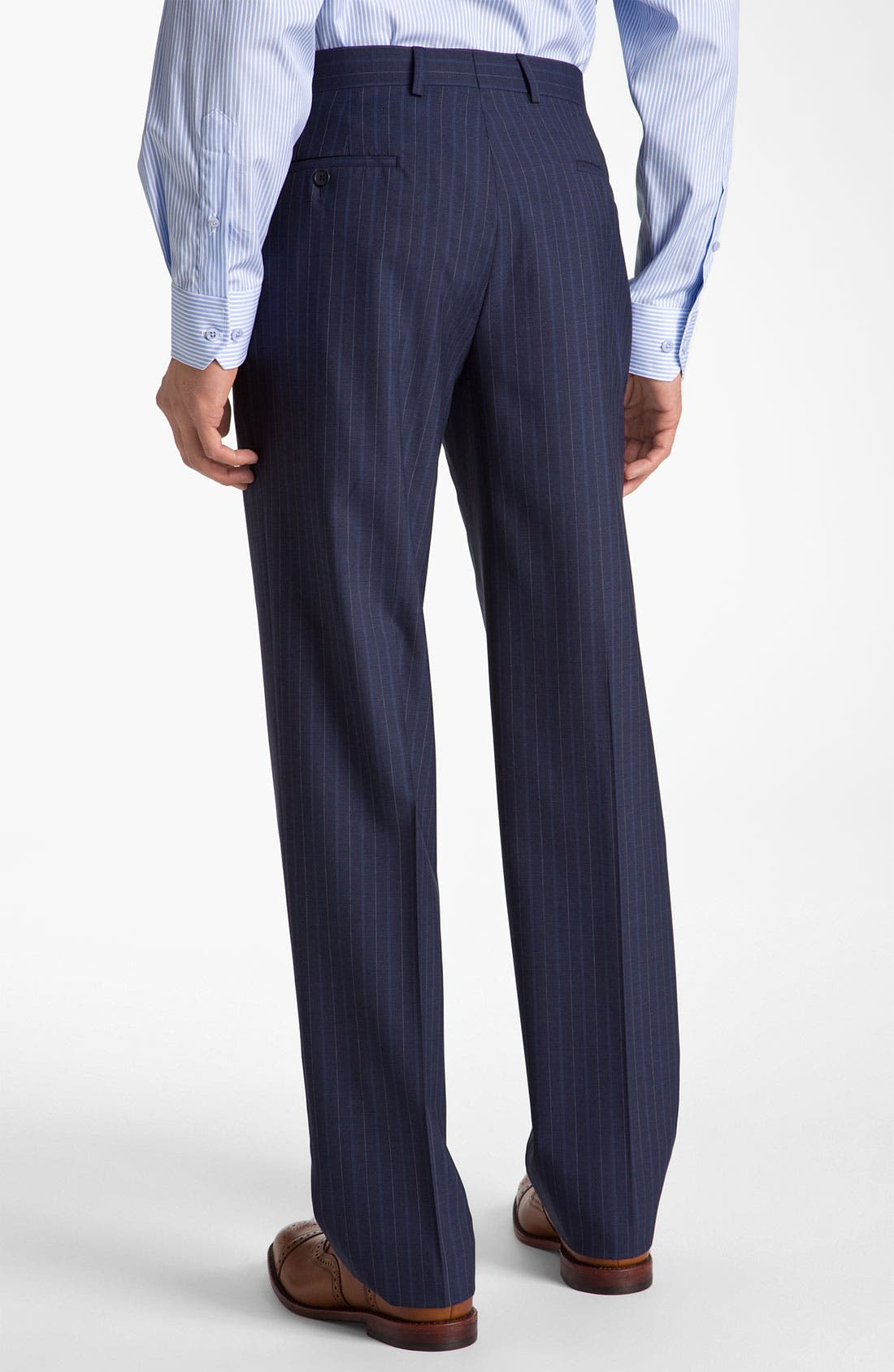Alternate Image 5  - Robert Talbott Navy Pinstripe Wool Suit