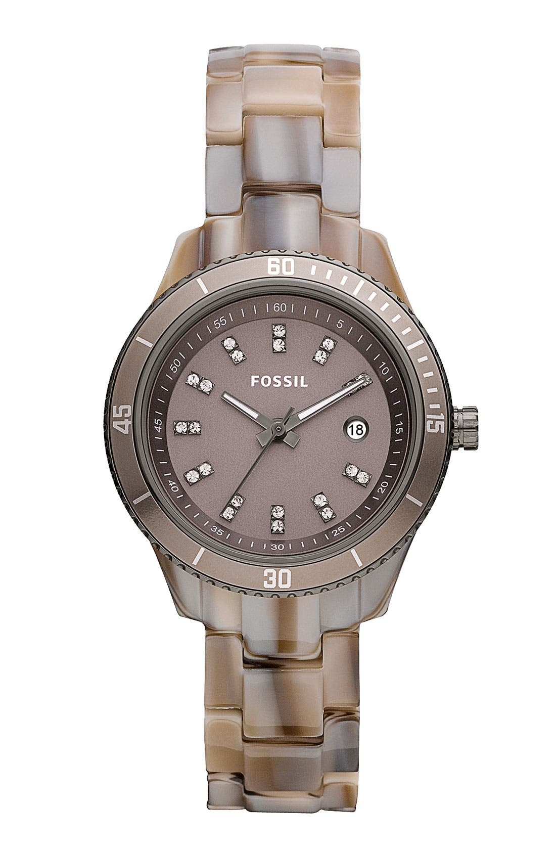Main Image - Fossil 'Mini Stella' Round Dial Bracelet Watch, 31mm