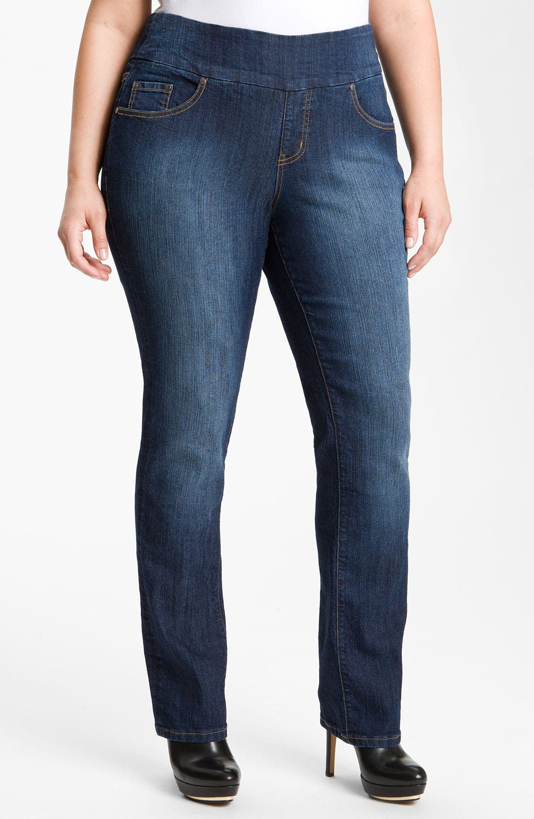 Alternate Image 1 Selected - Jag Jeans 'Peri' Straight Leg Jeans (Plus Size)