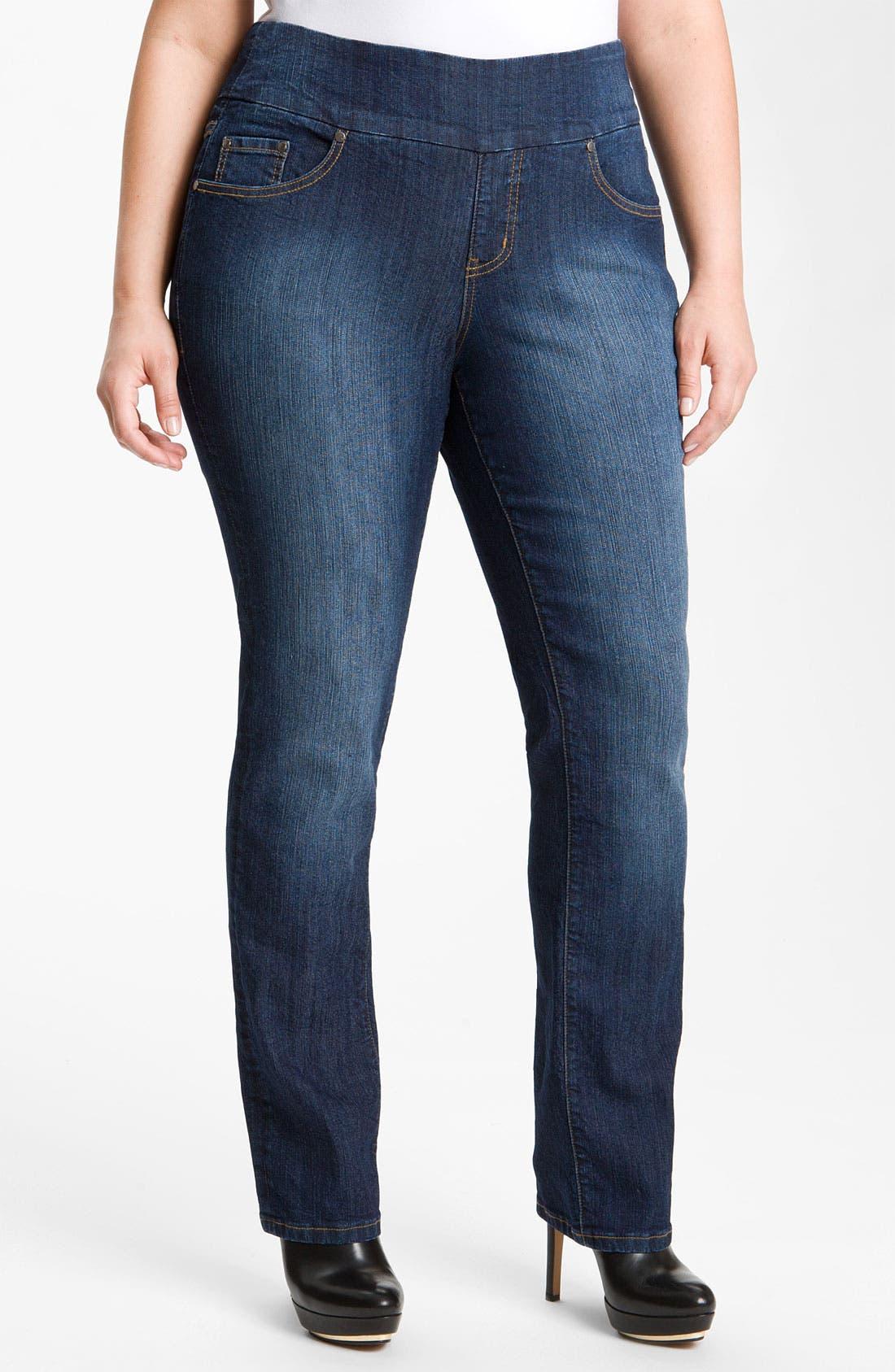 Main Image - Jag Jeans 'Peri' Straight Leg Jeans (Plus Size)