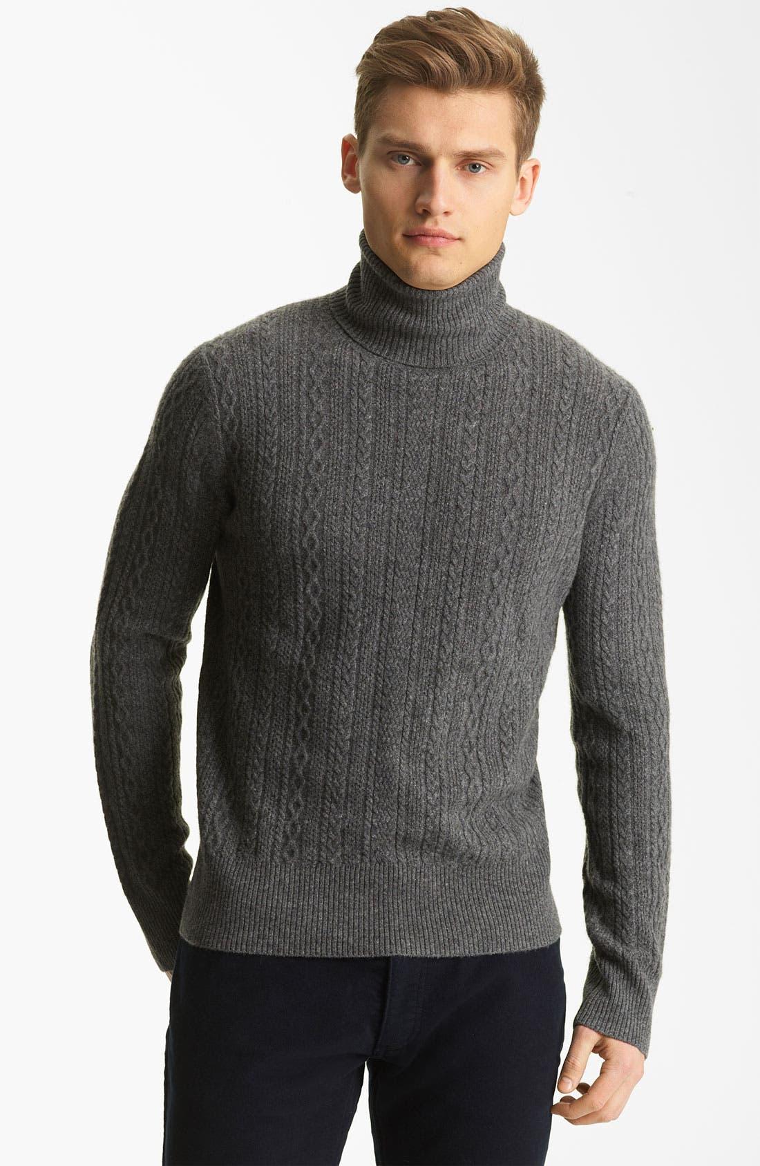 Alternate Image 1 Selected - Billy Reid 'Elton' Cashmere Turtleneck Sweater