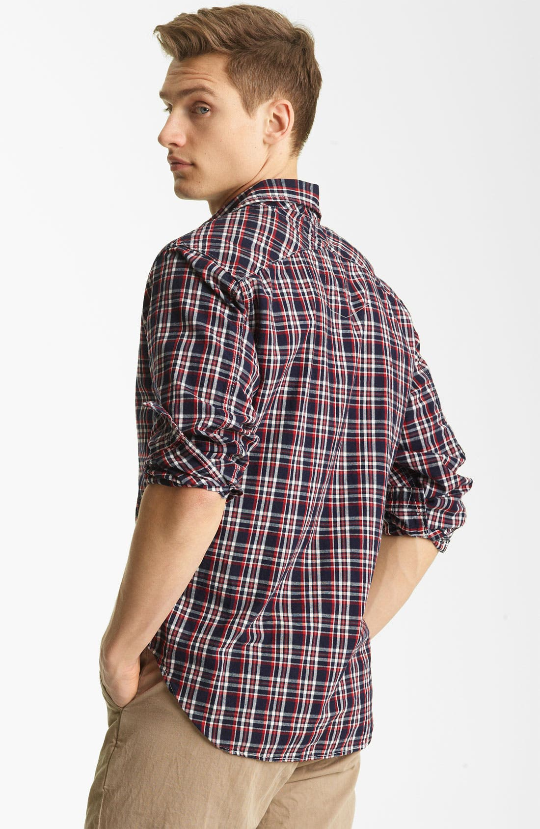 Alternate Image 2  - Billy Reid 'Elkins' Plaid Woven Shirt
