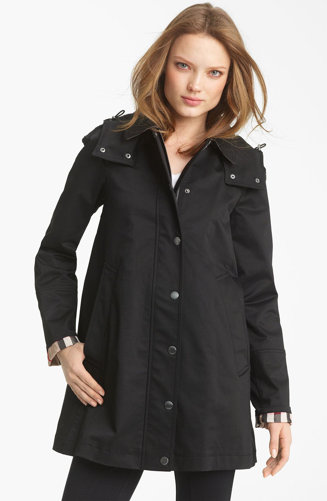 Main Image - Burberry Brit 'Bowpark' Raincoat with Liner