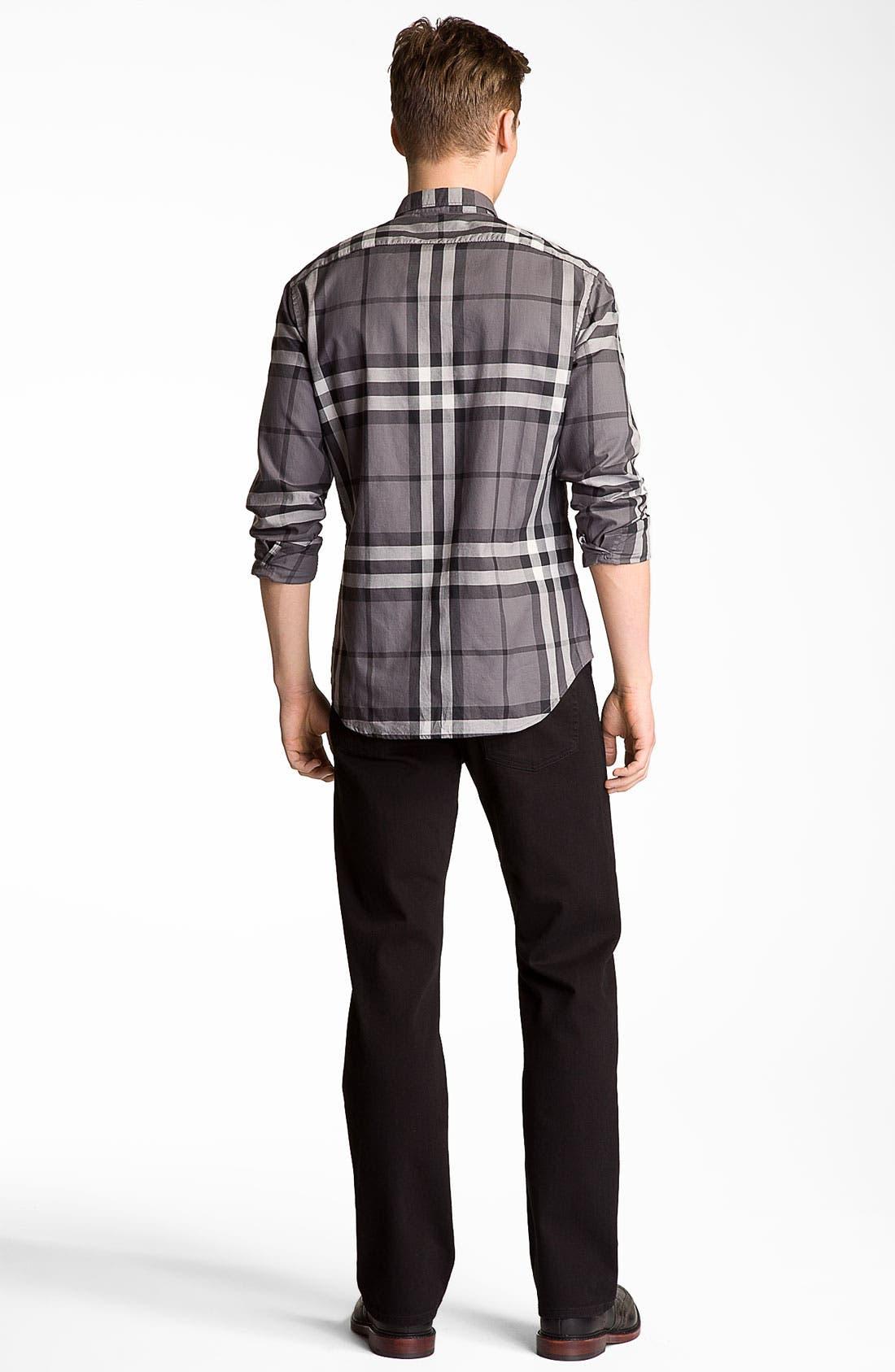 Alternate Image 6  - Burberry Brit Stretch Denim Jeans (Clean Black)