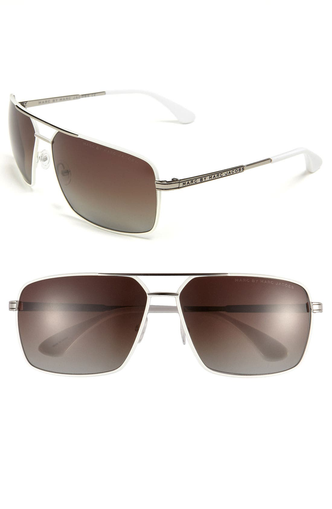 Main Image - MARC BY MARC JACOBS Polarized Aviator Sunglasses
