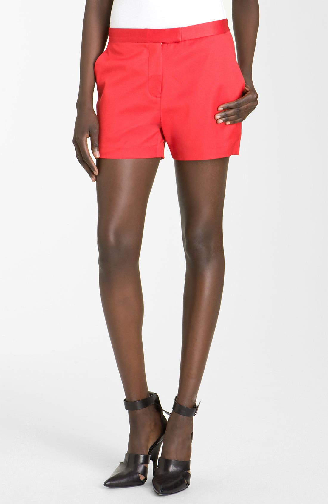 Main Image - T by Alexander Wang Twill Shorts