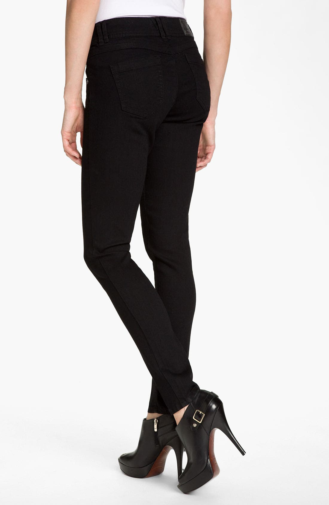 Alternate Image 2  - Wit & Wisdom Denim Leggings (Black Wash) (Nordstrom Exclusive)