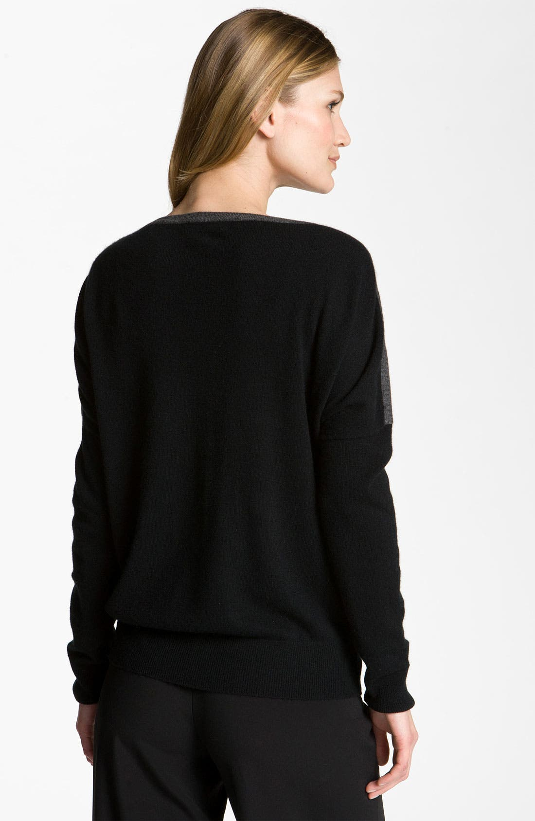 Alternate Image 2  - Nordstrom Collection Colorblock Cashmere Sweater