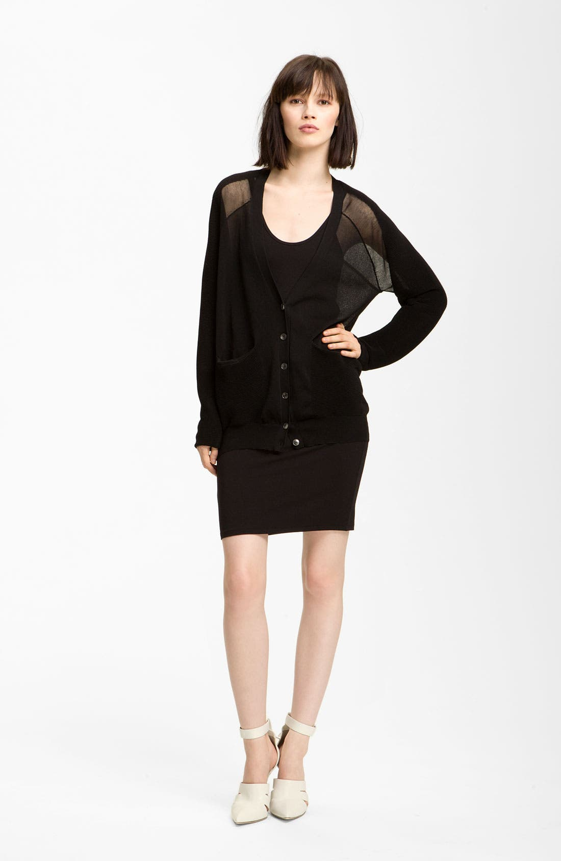 Main Image - Alexander Wang 'Floating' Ottoman Cardigan