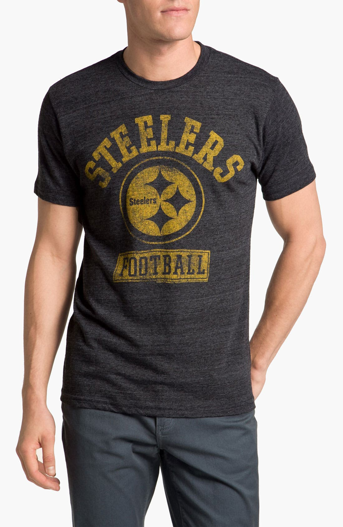 Alternate Image 1 Selected - Junk Food 'Pittsburgh Steelers' Graphic Crewneck T-Shirt