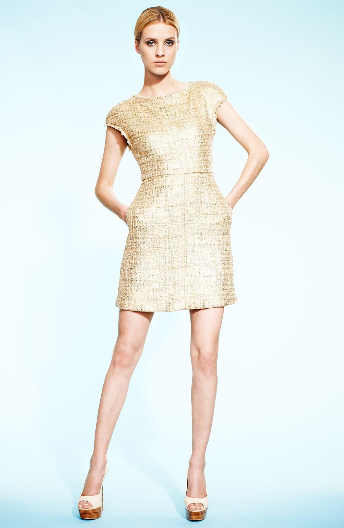 Alternate Image 4  - Alice + Olivia Jacquard A-Line Dress