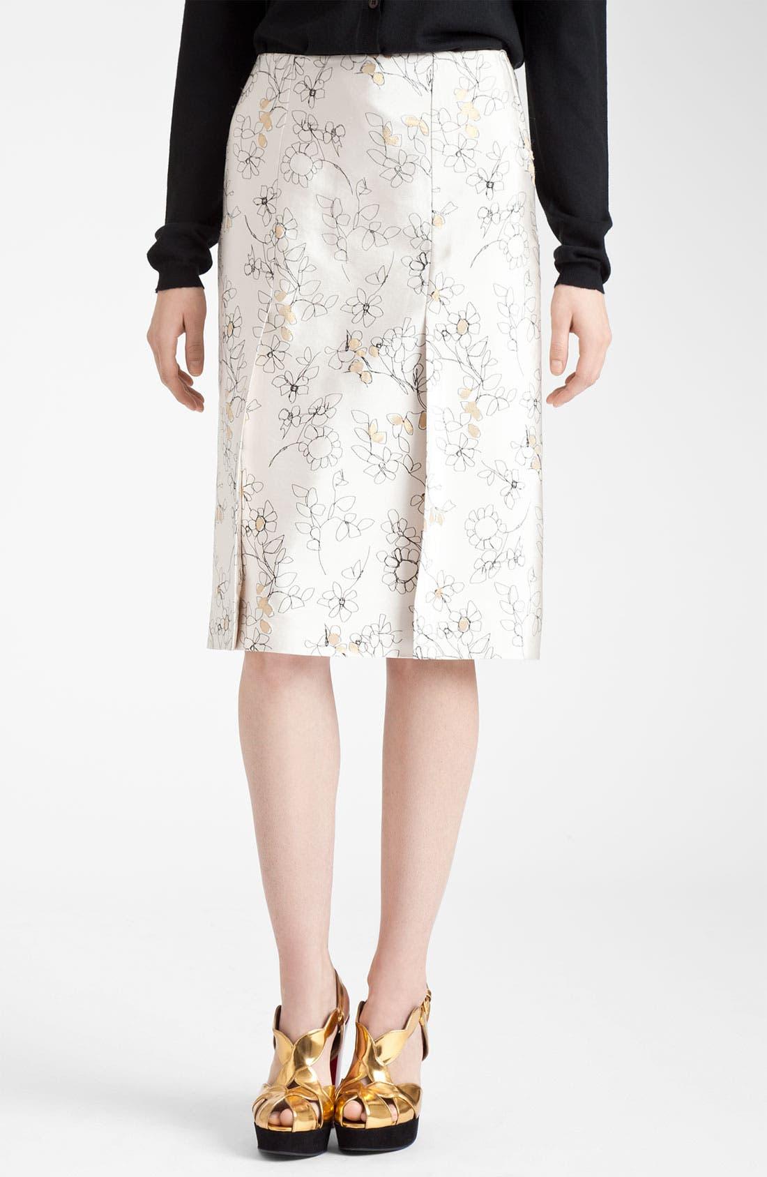 Main Image - Marni Floral Print Skirt
