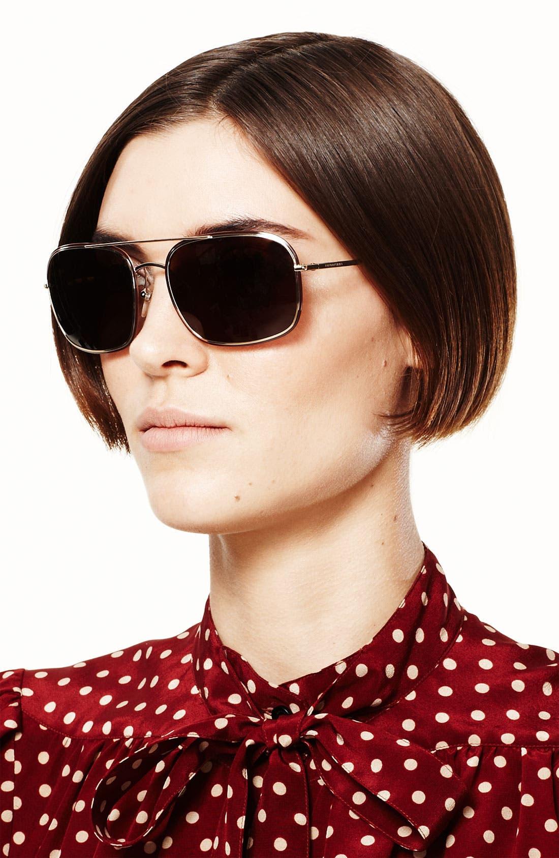 Alternate Image 2  - Burberry Navigator Sunglasses