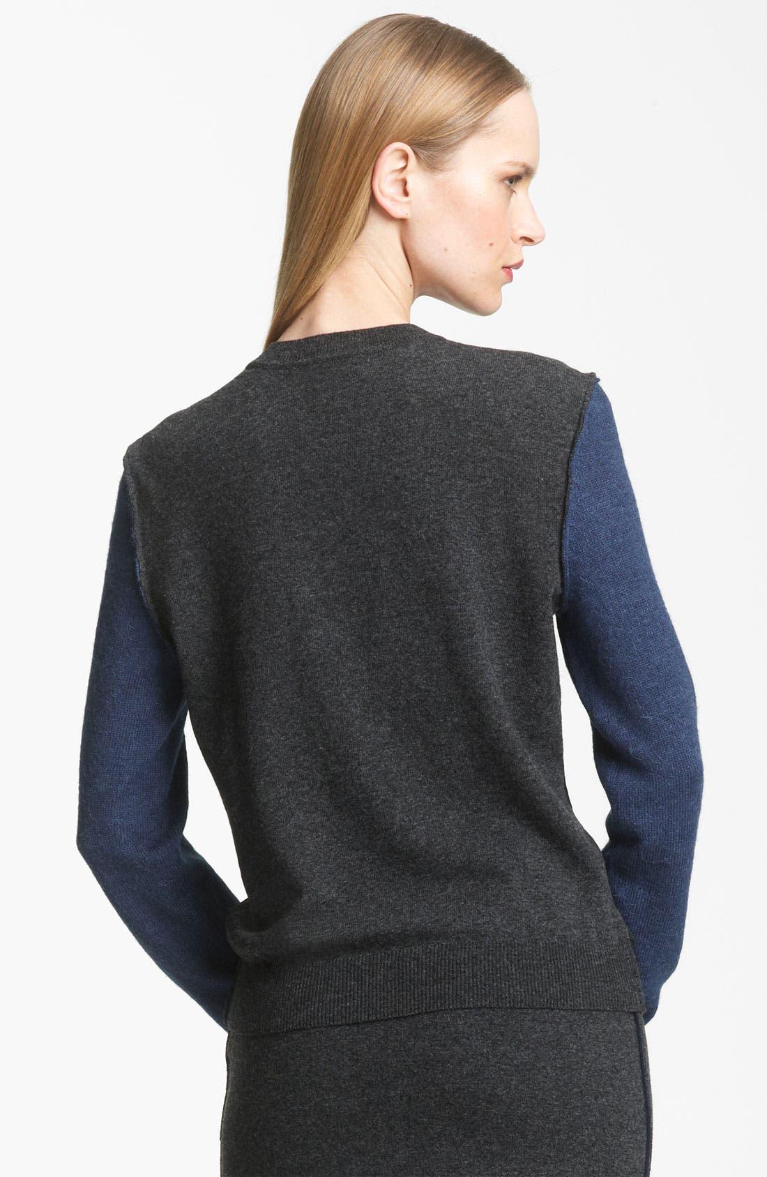 Alternate Image 2  - Lanvin Colorblock Woven & Knit Pullover