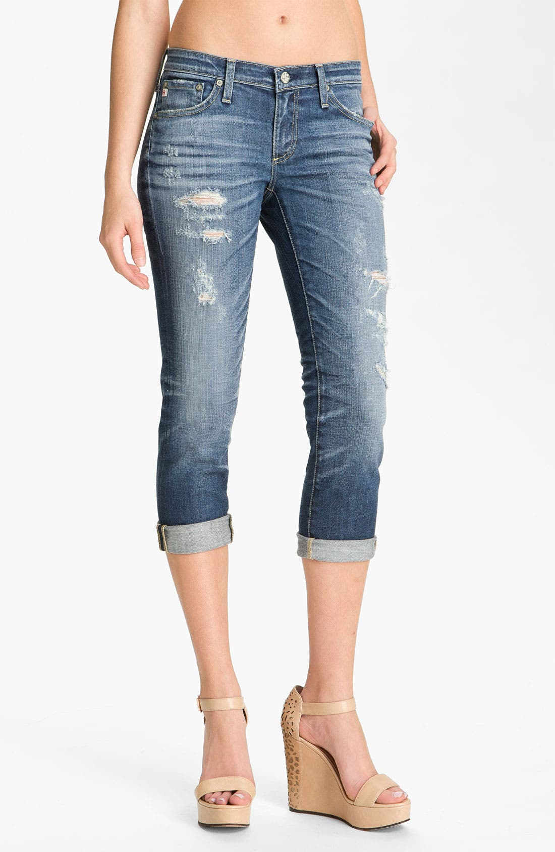 Alternate Image 1 Selected - AG Jeans 'Stilt' Crop Skinny Jeans (15-Year Shred)