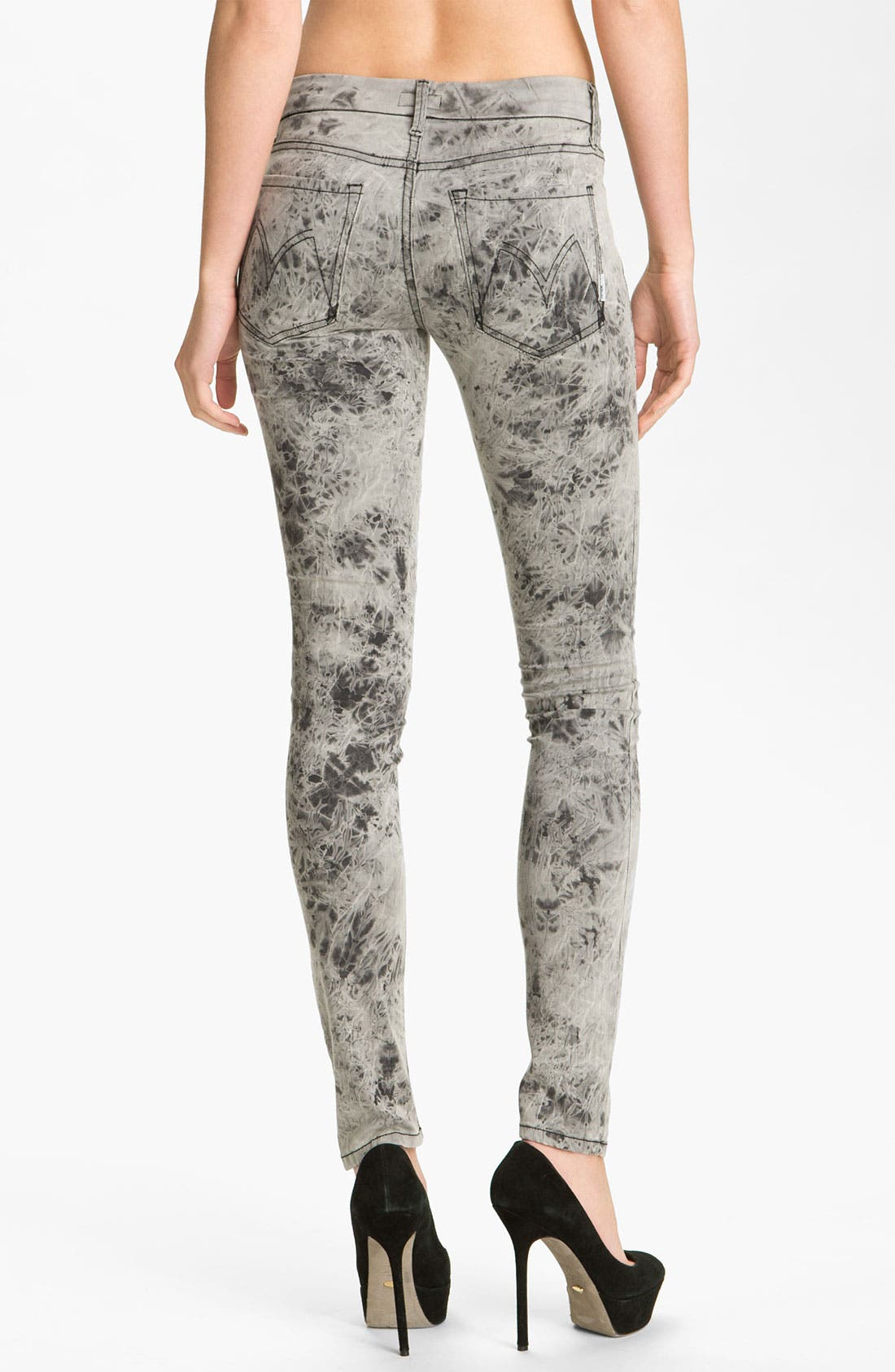 Alternate Image 2  - MOTHER 'The Looker' Skinny Stretch Jeans (Rebel at Night)
