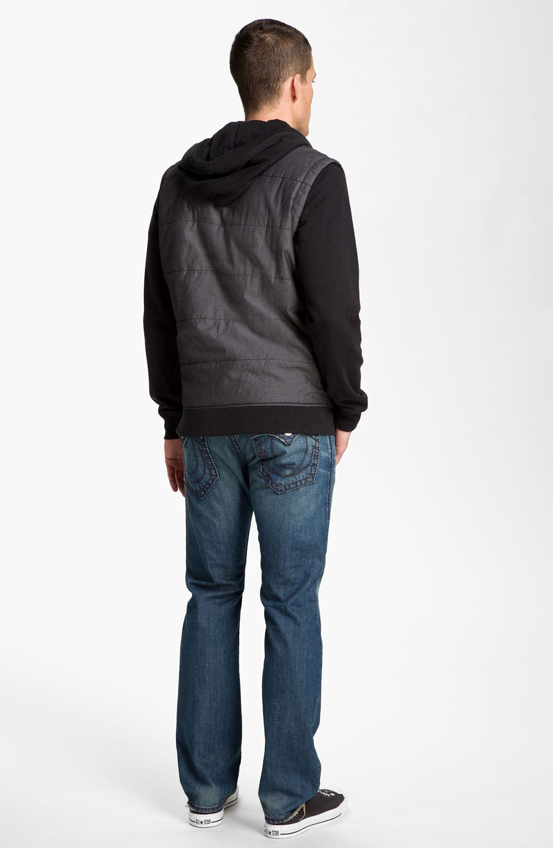 Alternate Image 5  - RVCA Puffer Vest Hooded Jacket