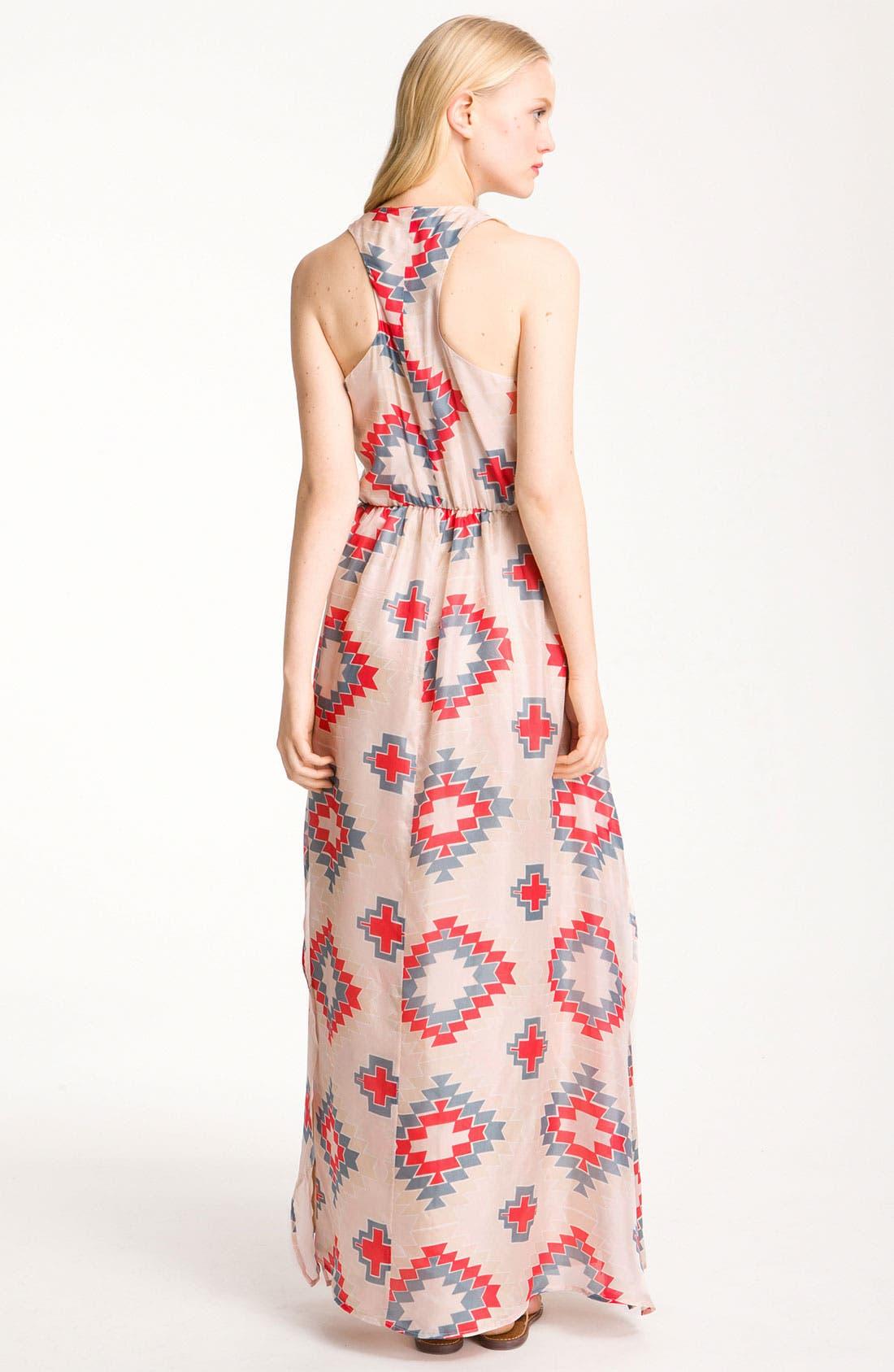 Alternate Image 2  - Myne Print Silk Maxi Dress