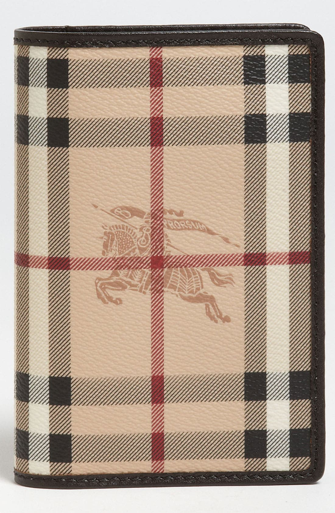 Alternate Image 1 Selected - Burberry 'Haymarket Check' Passport Case
