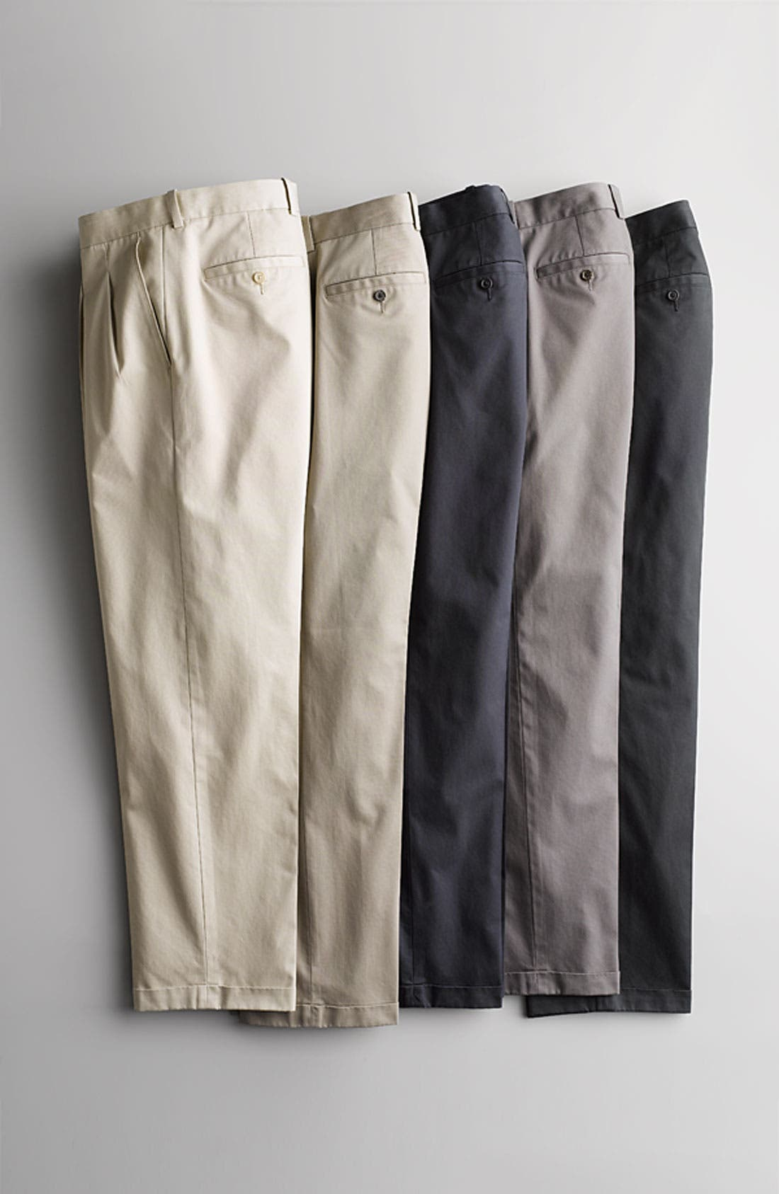 Alternate Image 4  - John W. Nordstrom® Smartcare™ Pleated Supima® Cotton Pants