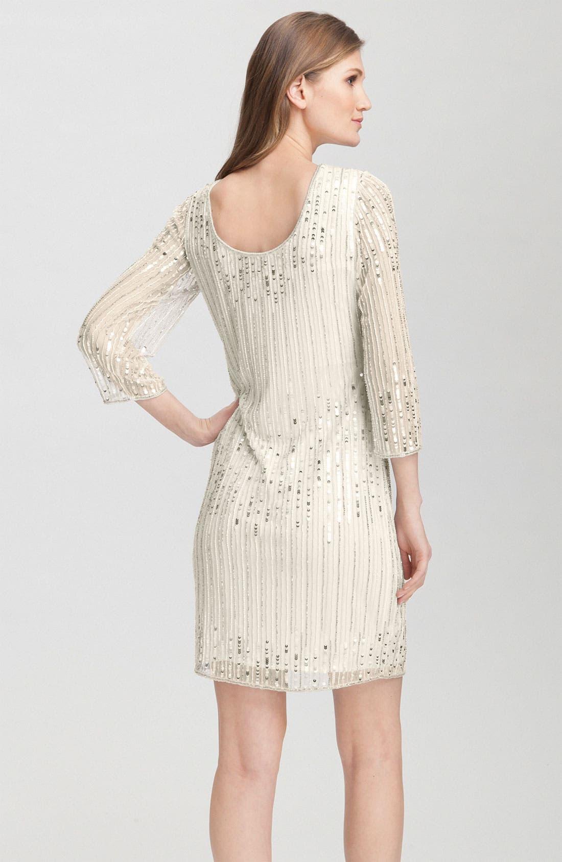 Alternate Image 2  - Pisarro Nights Embellished Overlay Sheath Dress