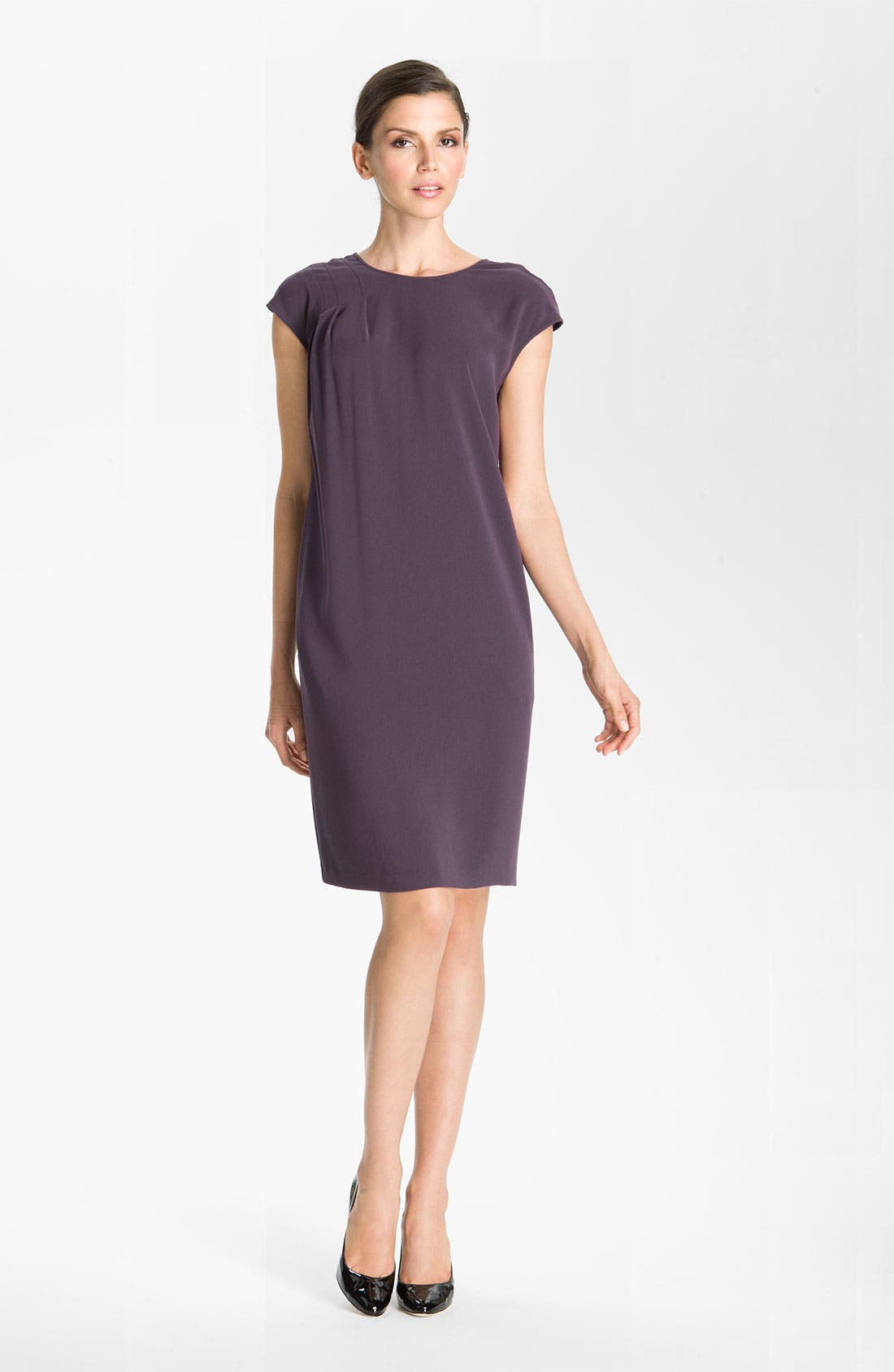 Main Image - St. John Collection V-Back Luxe Crepe Dress