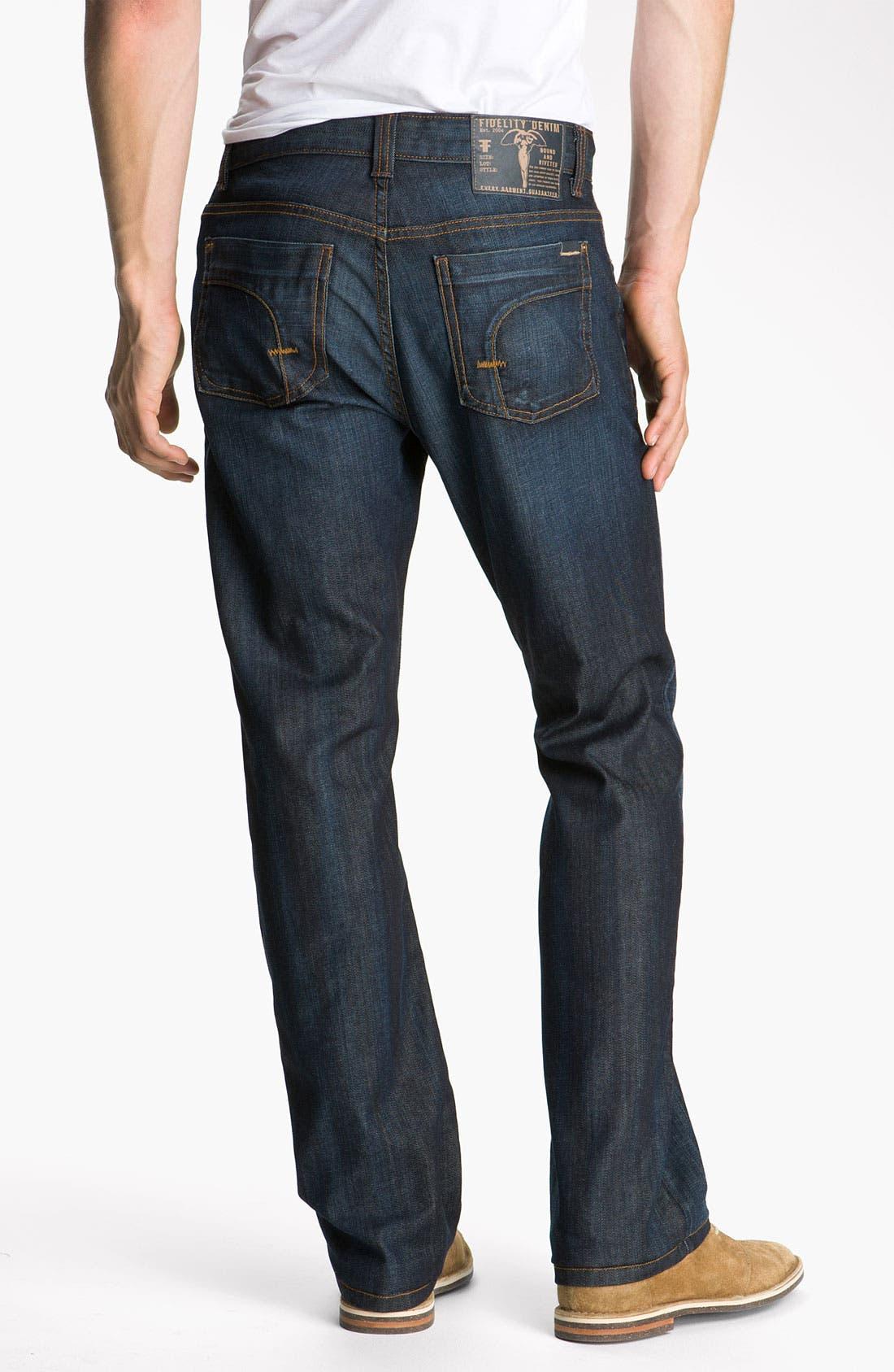 Alternate Image 2  - Fidelity Denim 'Impala' Slim Straight Leg Jeans (Altmont Dark Vintage)