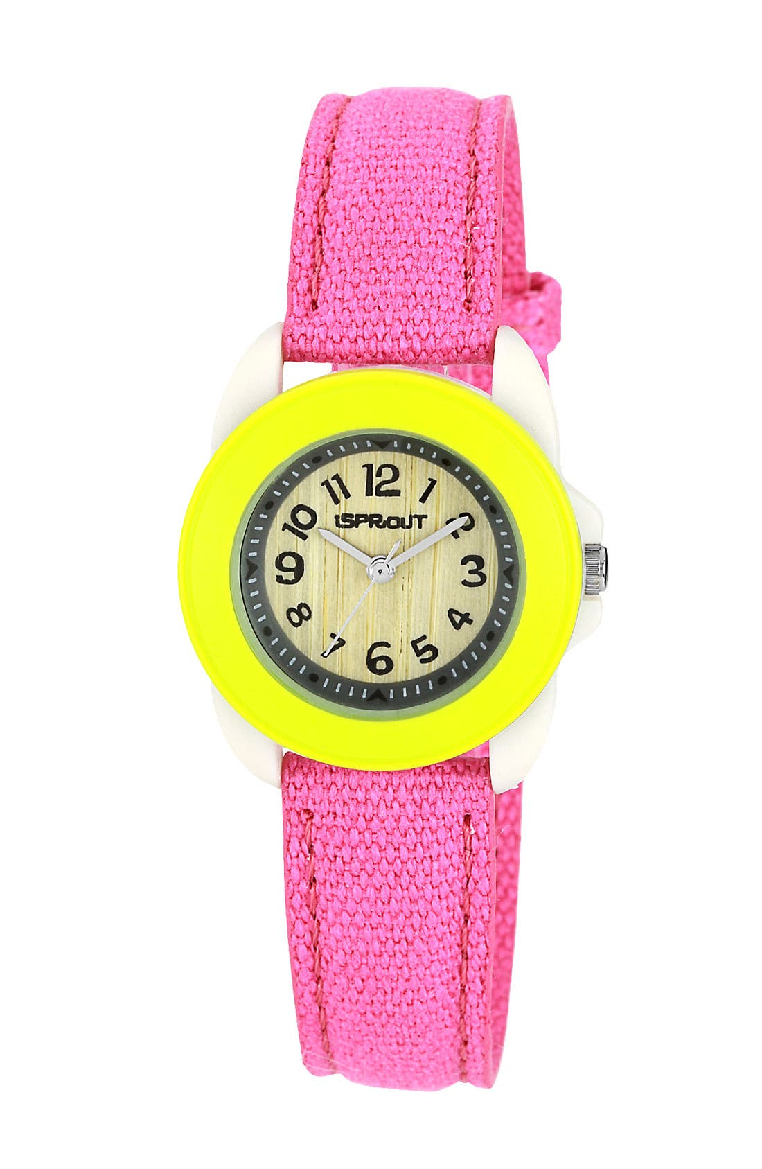 Alternate Image 1 Selected - SPROUT™ Watches Round Organic Cotton Strap Watch, 22mm