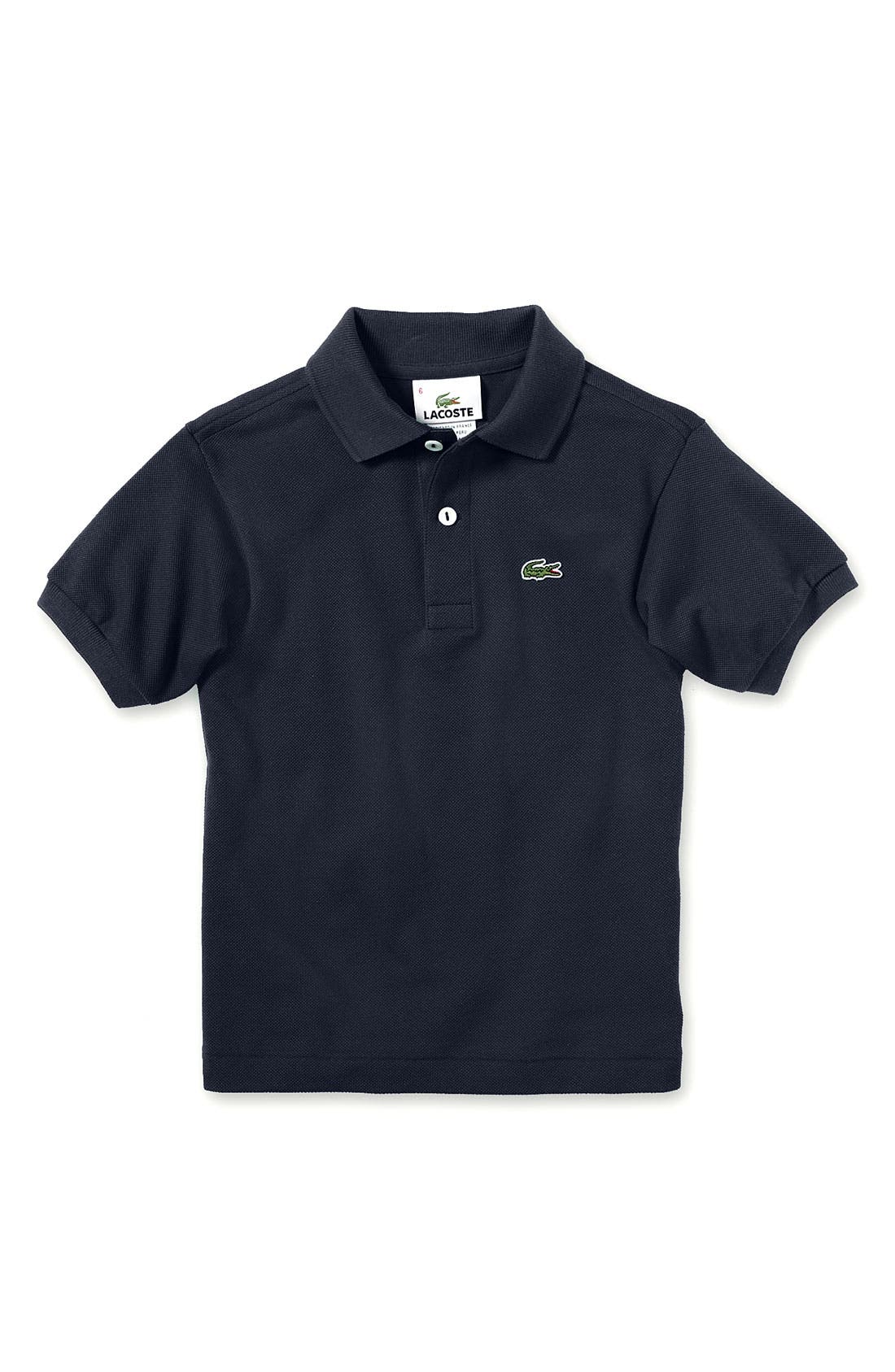 Alternate Image 1 Selected - Lacoste Short Sleeve Polo (Toddler Boys & Little Boys)