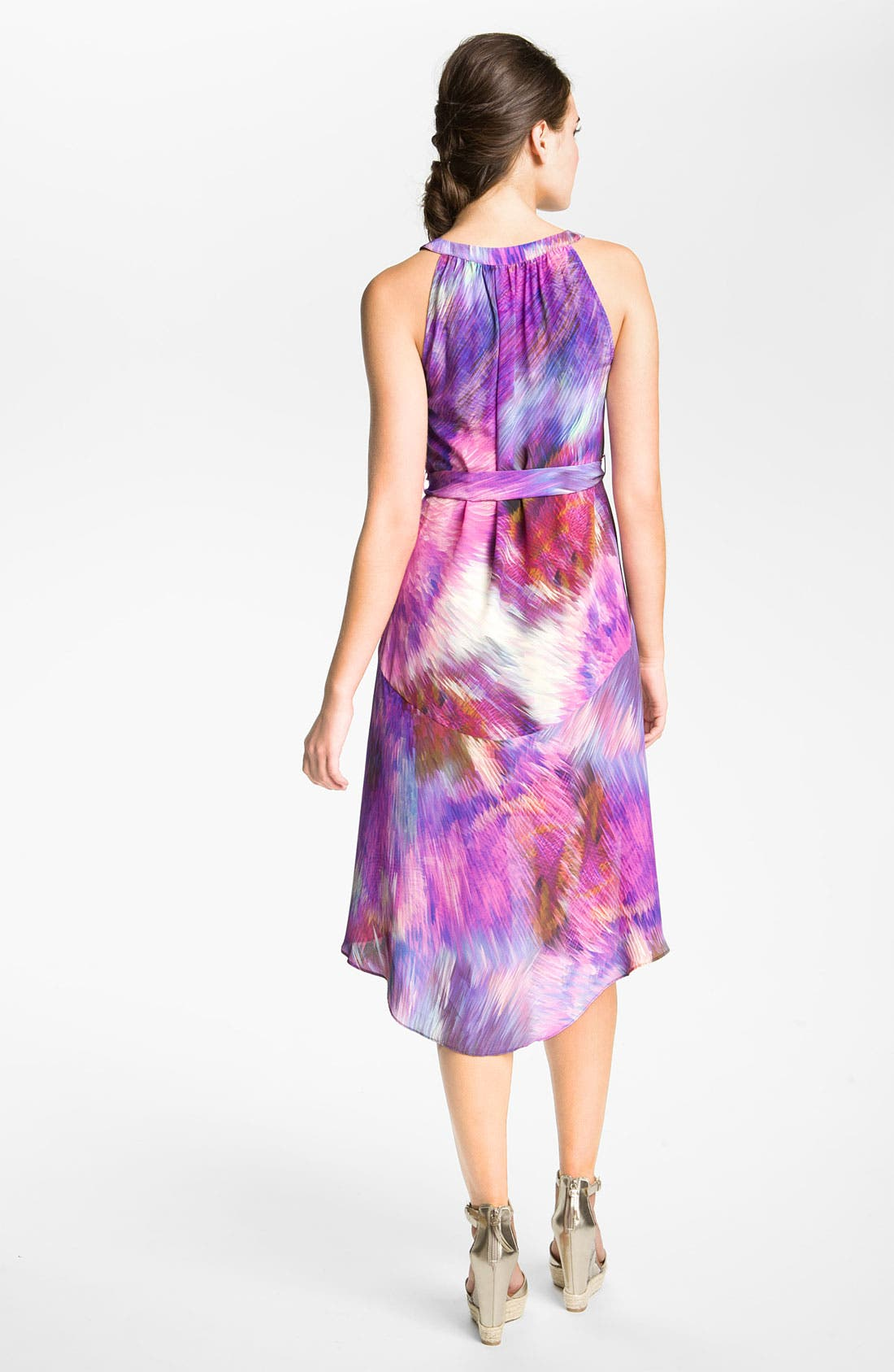 Alternate Image 2  - Presley Skye Split Neck Silk Tunic Dress
