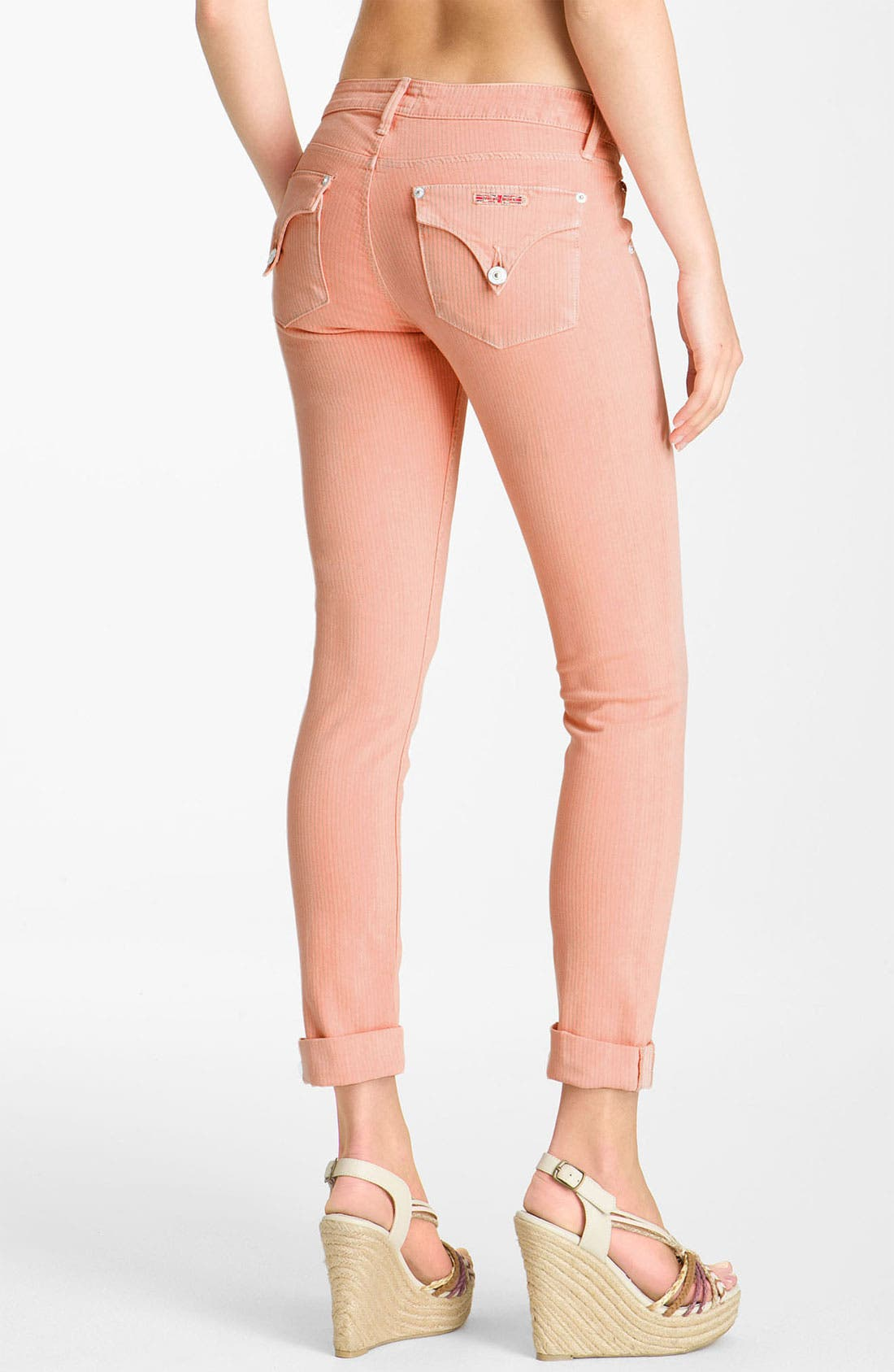 Alternate Image 2  - Hudson Jeans 'Bacara' Crop Straight Leg Jeans (Peach)