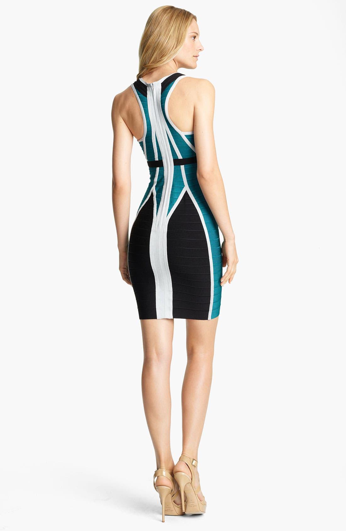 Alternate Image 2  - Herve Leger Colorblock Bandage Dress