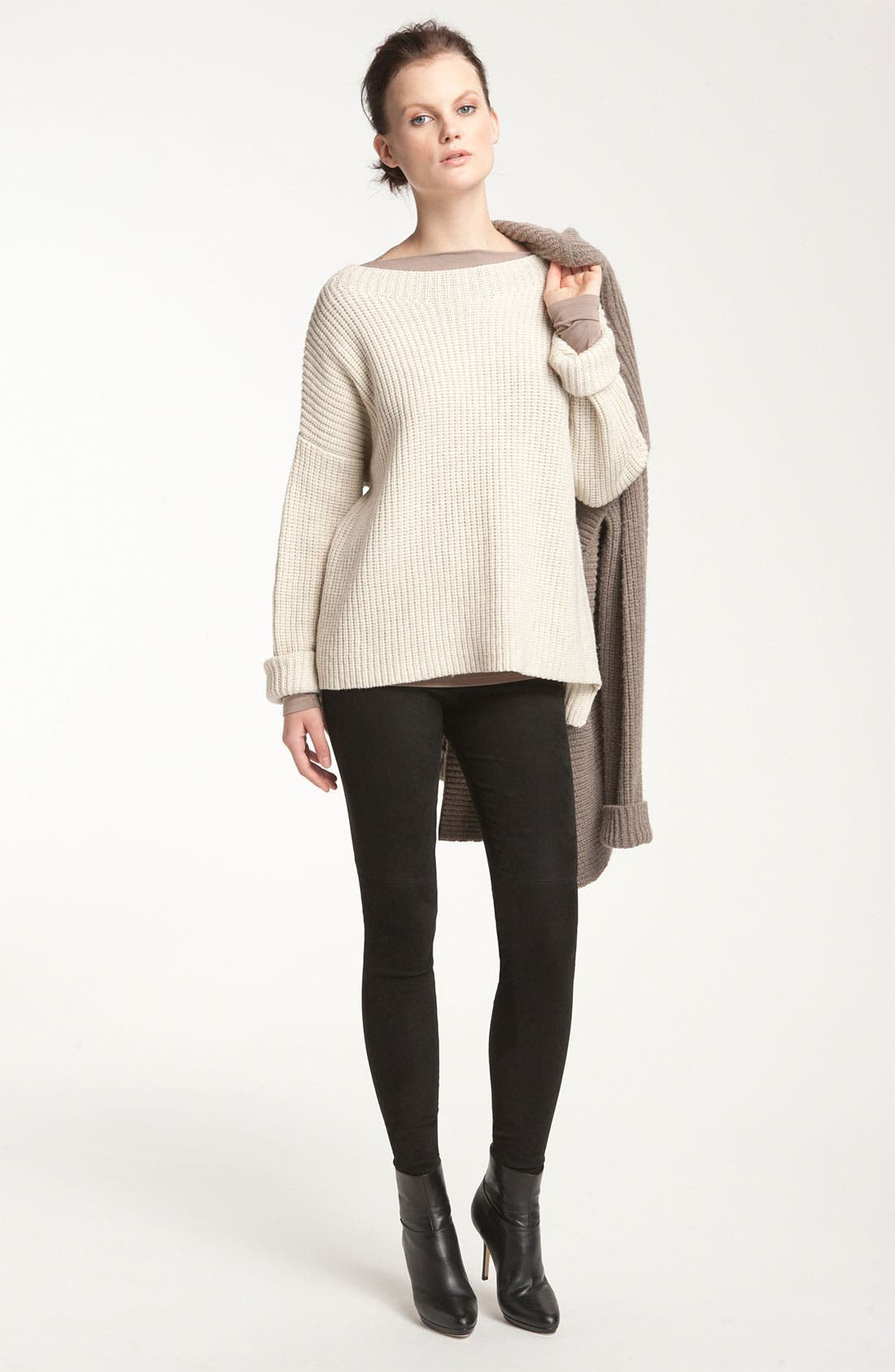 Main Image - Vince Ribbed Drop Shoulder Boxy Sweater