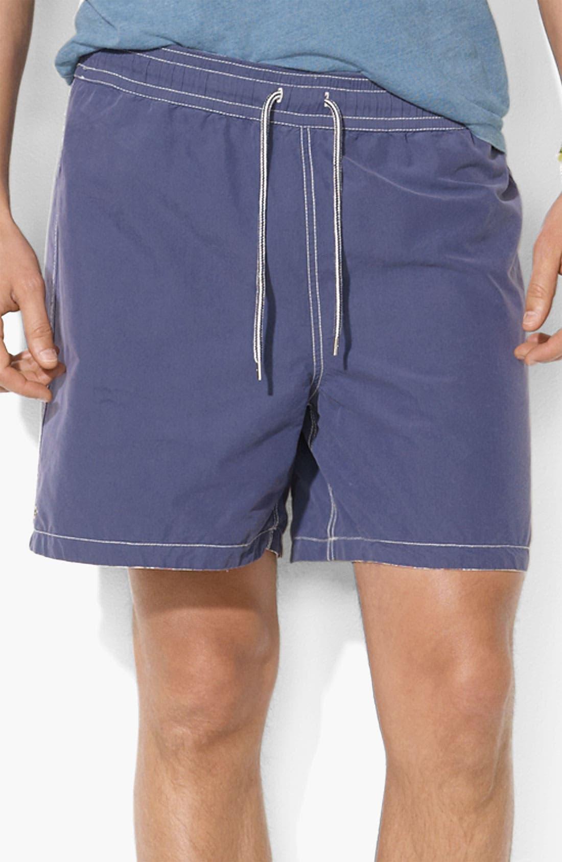 Alternate Image 2  - Polo Ralph Lauren Reversible Swim Shorts