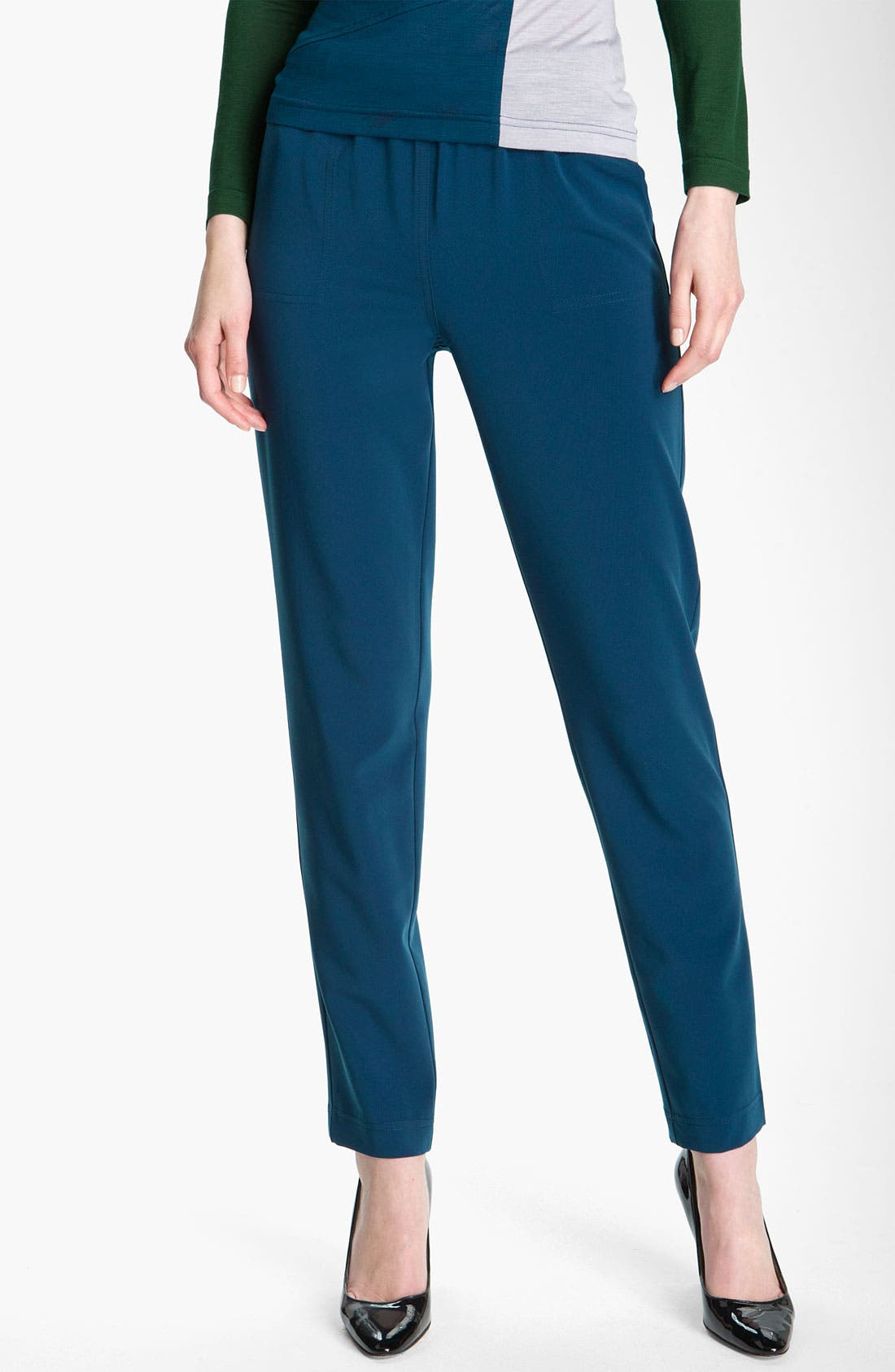 Alternate Image 2  - St. John Yellow Label Pull On Twill Ankle Pants