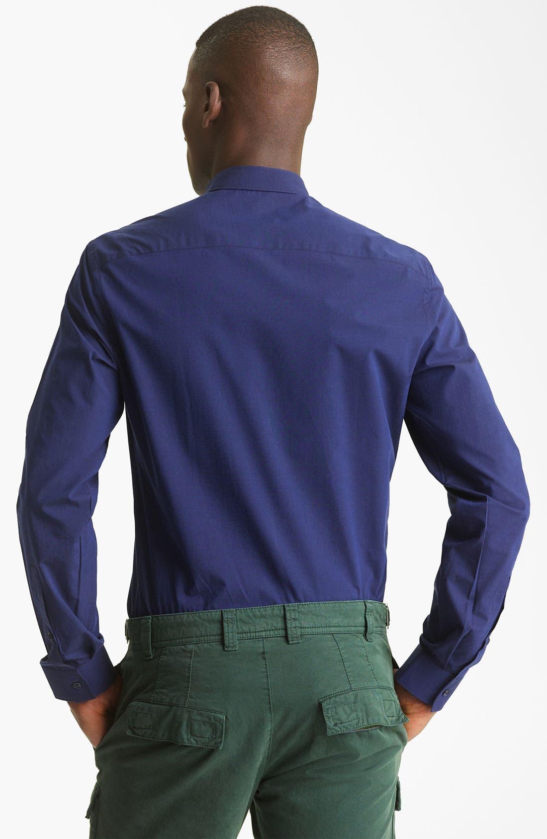 Alternate Image 2  - KENZO Stripe Trim Dress Shirt
