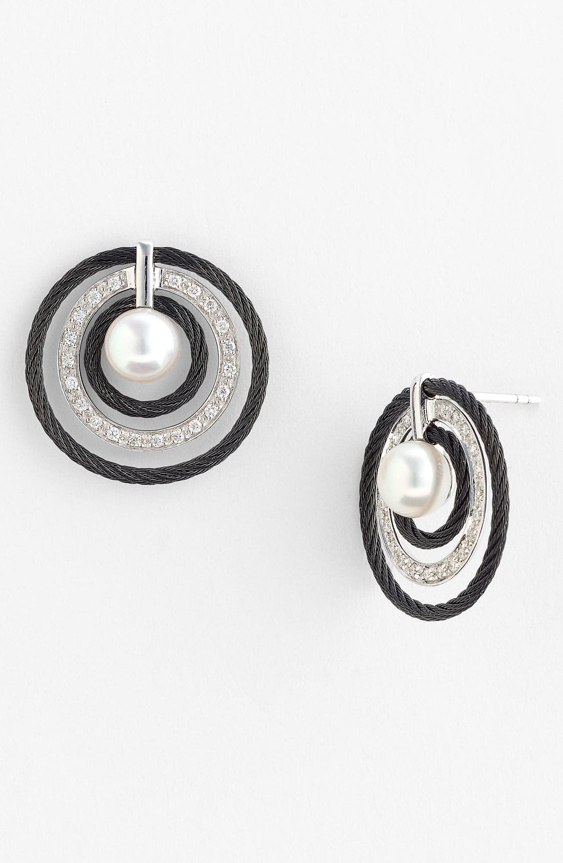 Alternate Image 1 Selected - ALOR® Pearl & Diamond Earrings