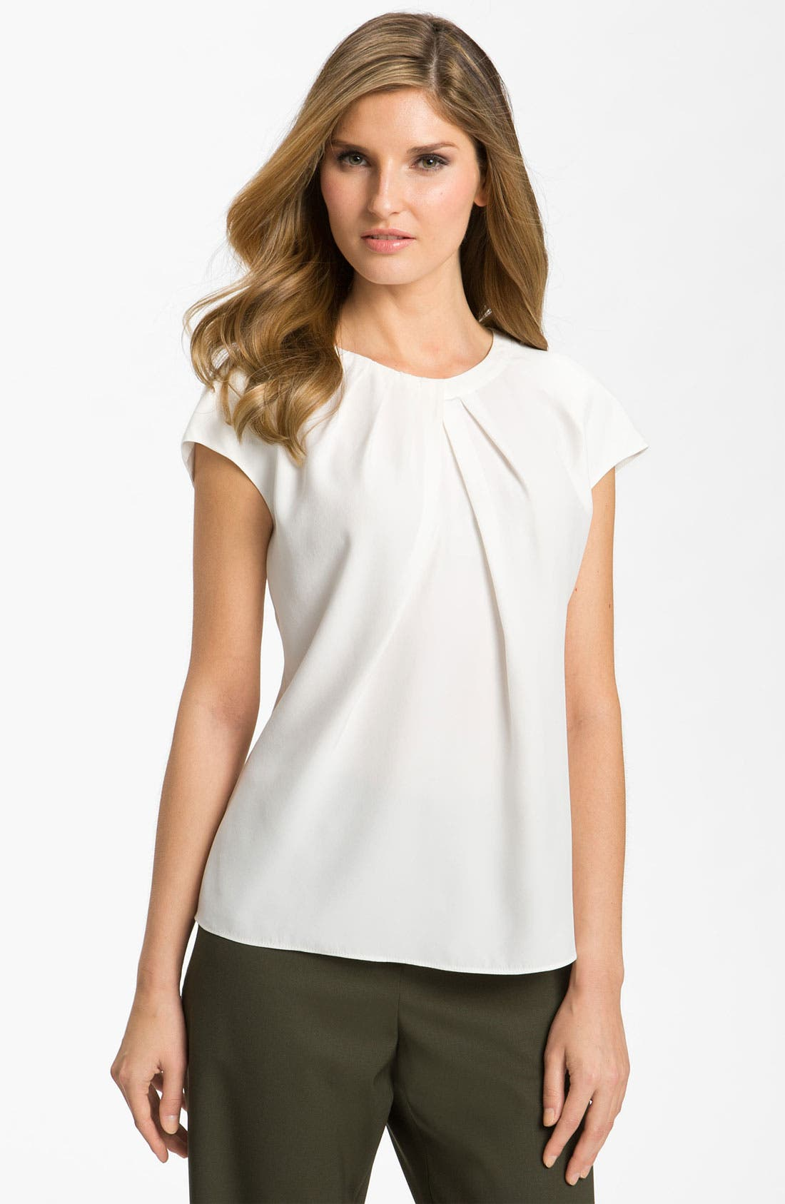 Alternate Image 1 Selected - Lafayette 148 New York 'Posey' Silk Blouse