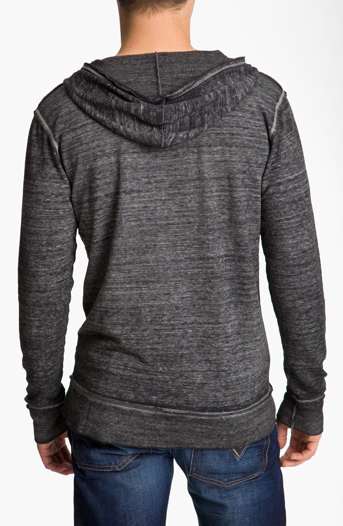 Alternate Image 2  - Threads for Thought V-Neck Hoodie
