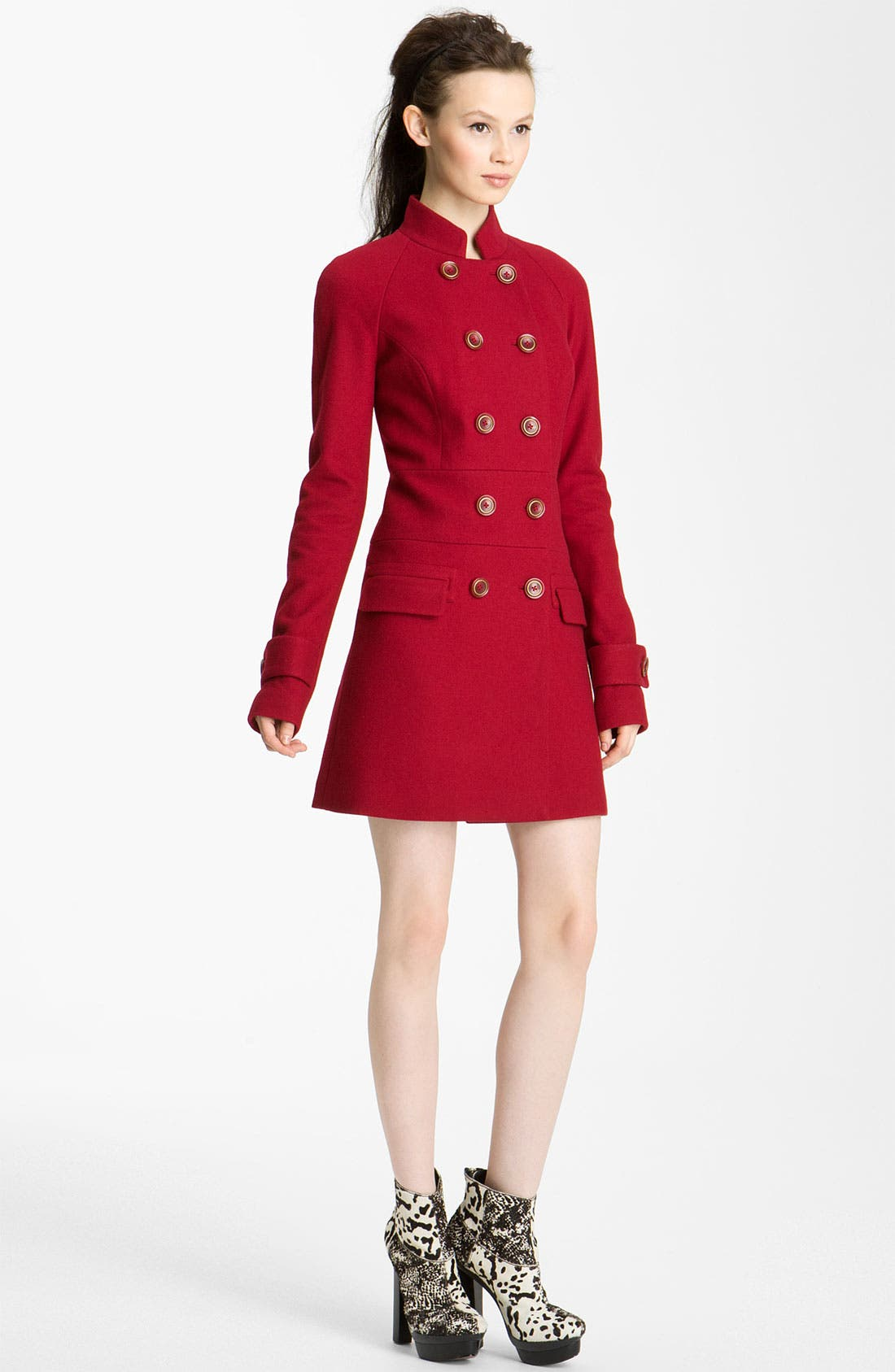 Main Image - Rachel Zoe Double Breasted Raglan Coat