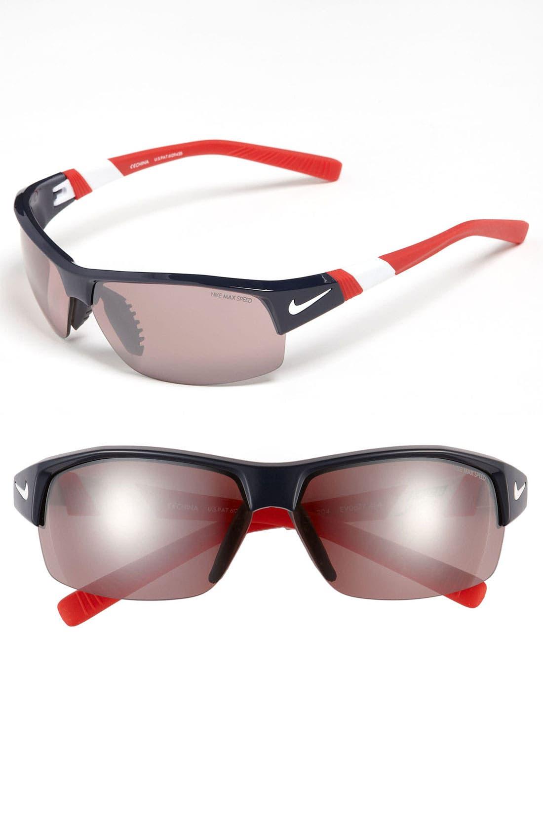 Alternate Image 1 Selected - Nike 'Show X2' 59mm Semi Rimless Sunglasses