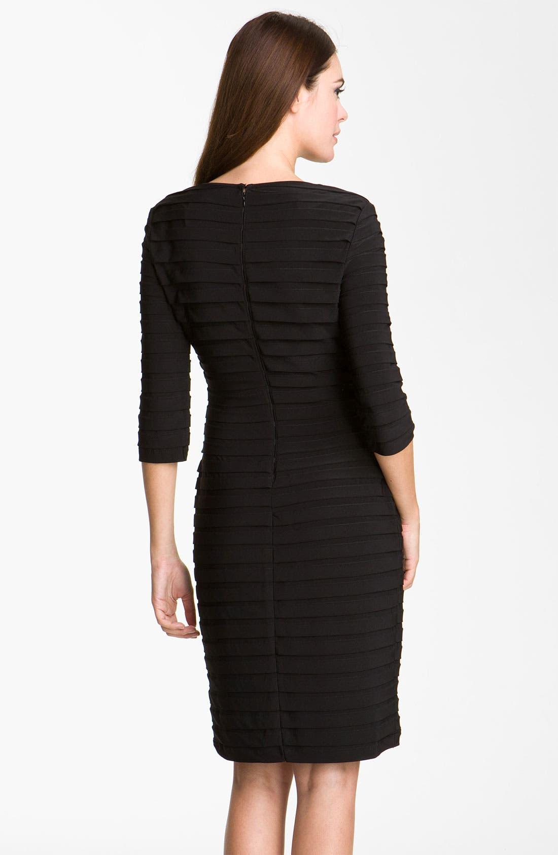 Alternate Image 2  - Adrianna Papell Pleated Jersey Sheath Dress (Regular & Petite)