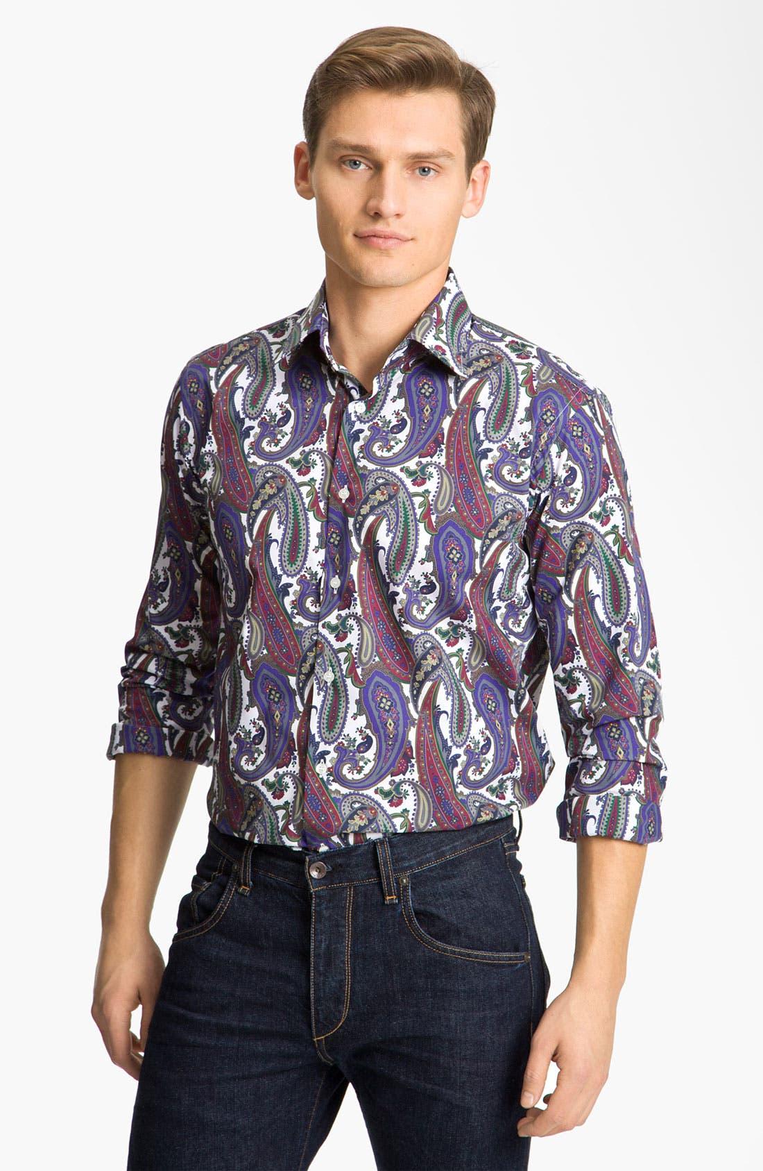 Alternate Image 1 Selected - Etro Paisley Shirt