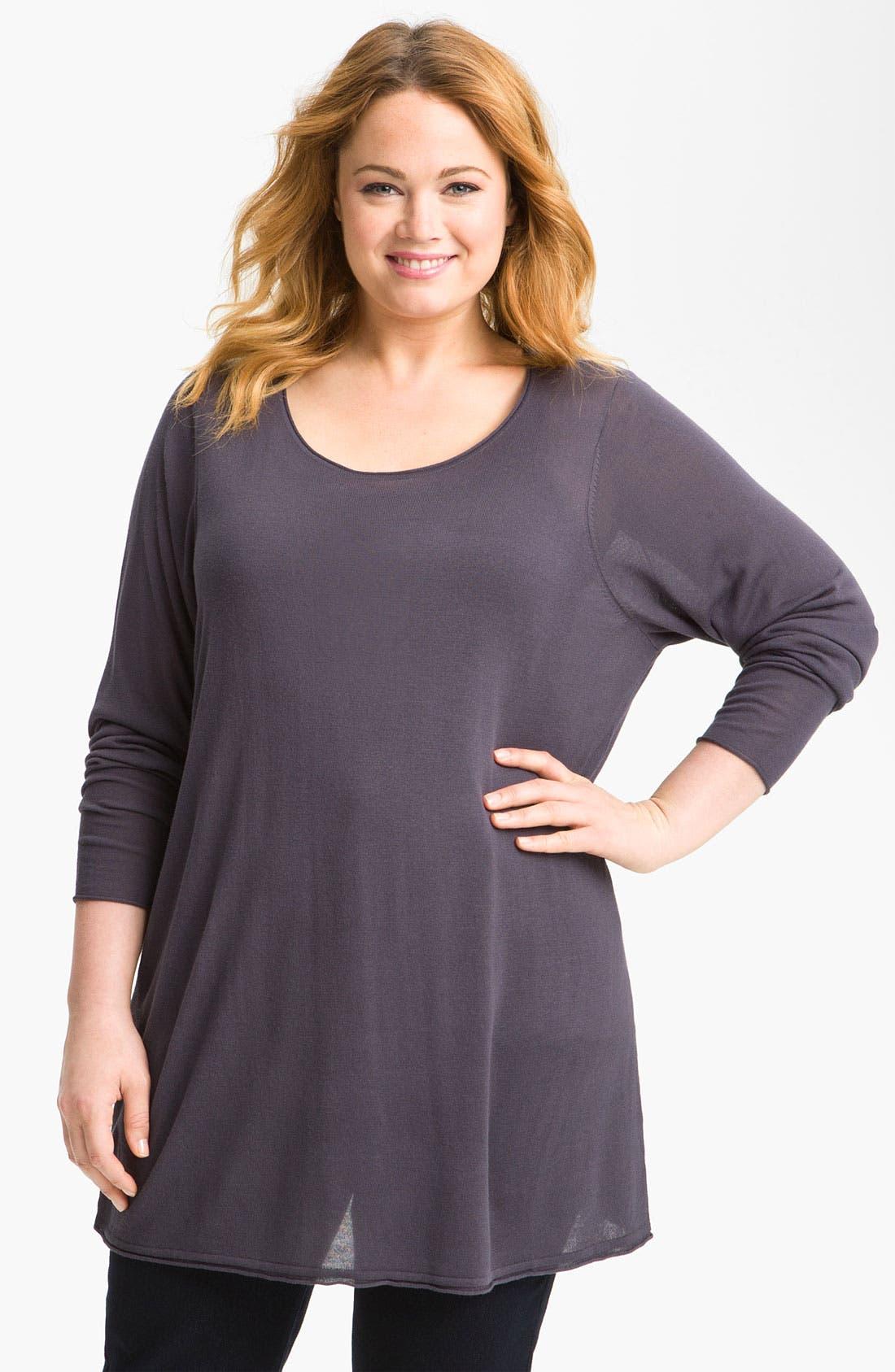 Main Image - Sejour Long Sleeve Sweater (Plus)