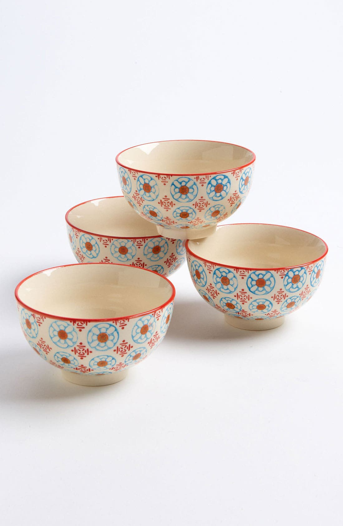 Main Image - Hand Painted Bowls (Set of 4)