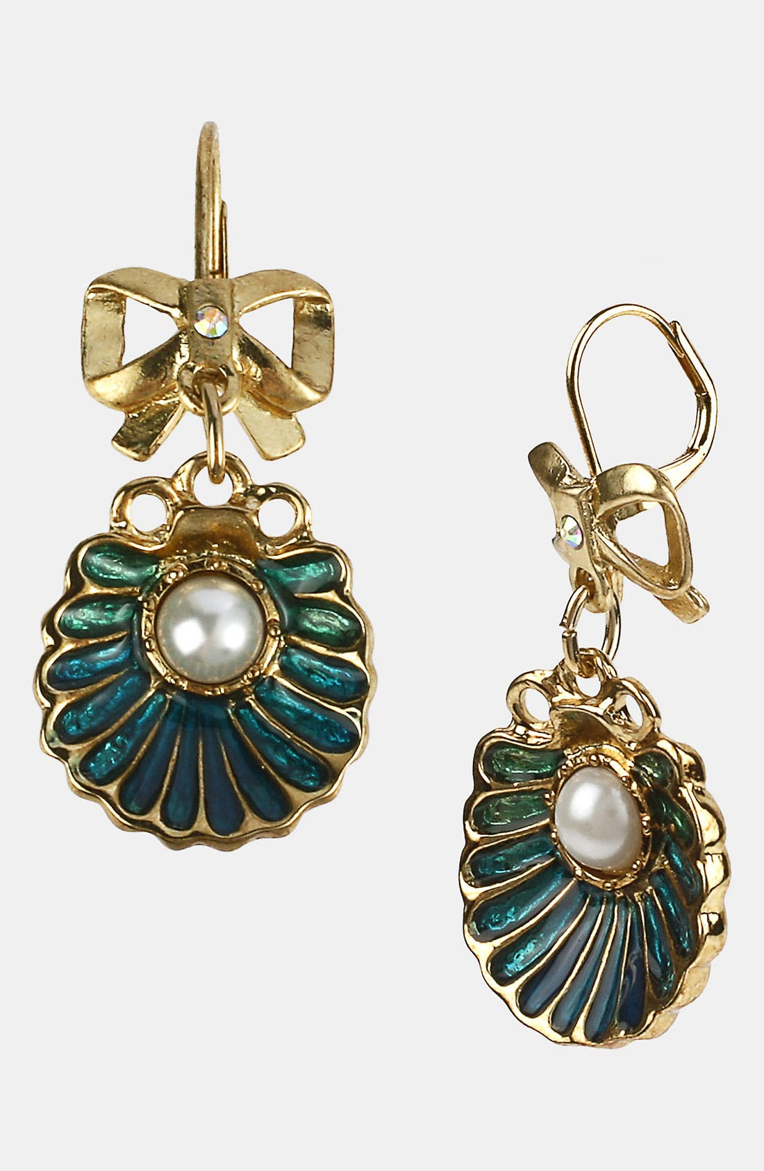 Alternate Image 1 Selected - Betsey Johnson 'Sea Excursion' Oyster Drop Earrings
