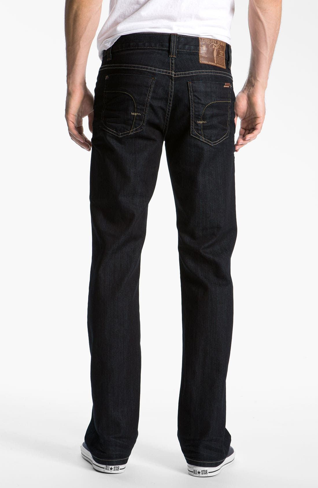Alternate Image 2  - Fidelity Denim '50-11' Straight Leg Jeans (Sabbath Rinse)