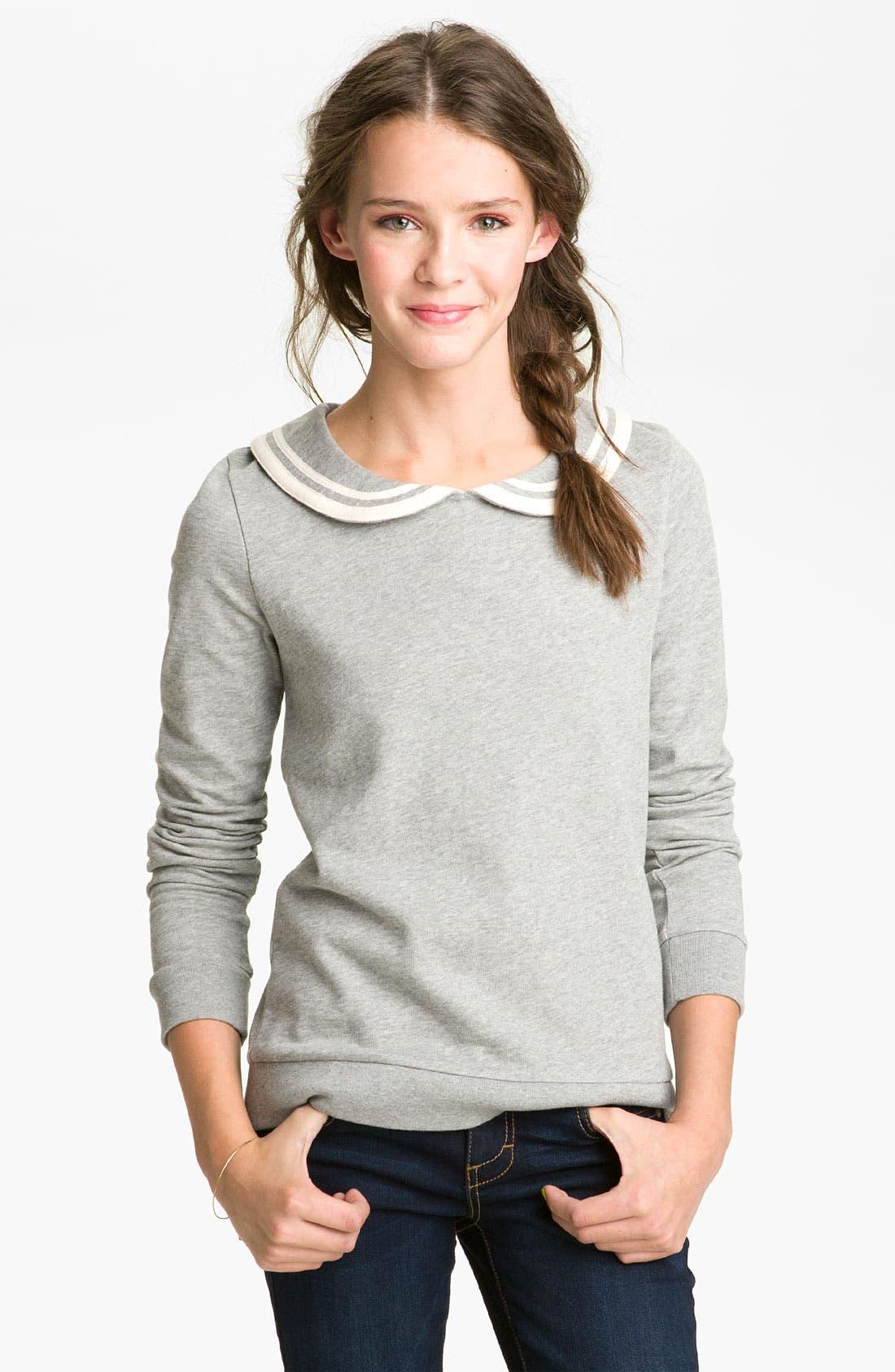 Main Image - BP. Peter Pan Collar Sweatshirt (Juniors)